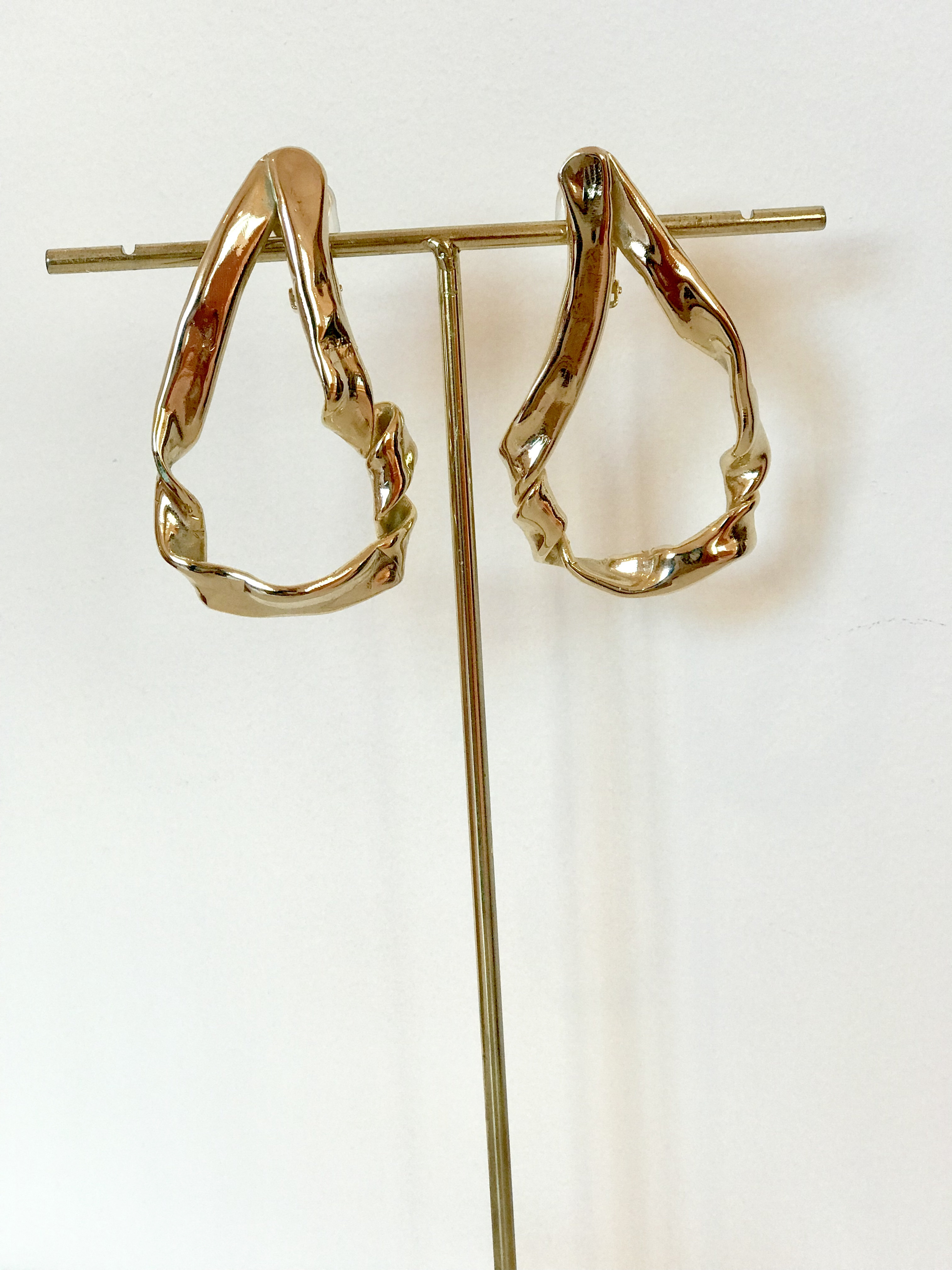 Twist Gold Earrings by Jessica K on curated-crowd.com