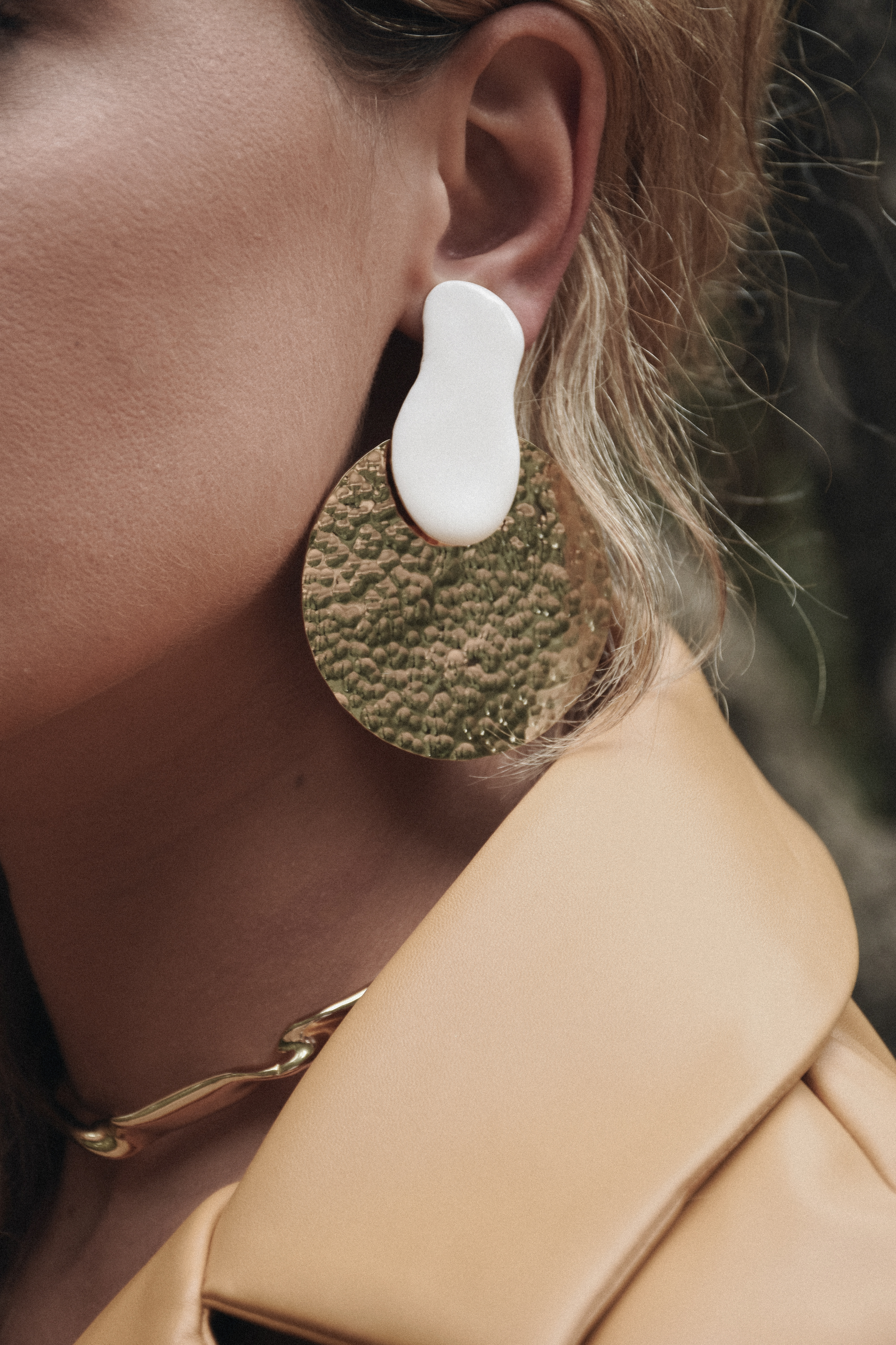 Planets White/Gold Earrings by Jessica K on curated-crowd.com