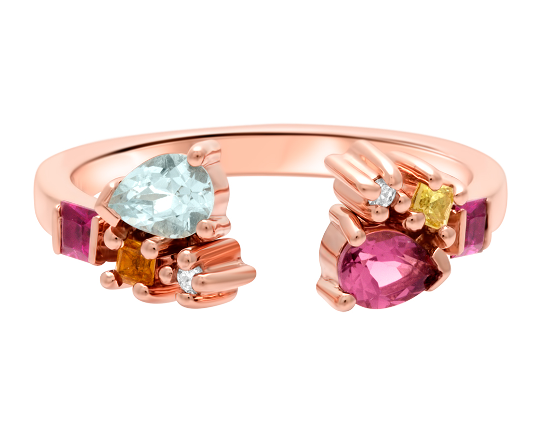 Certainty Sunset Attraction Ring by Marmari on curated-crowd.com