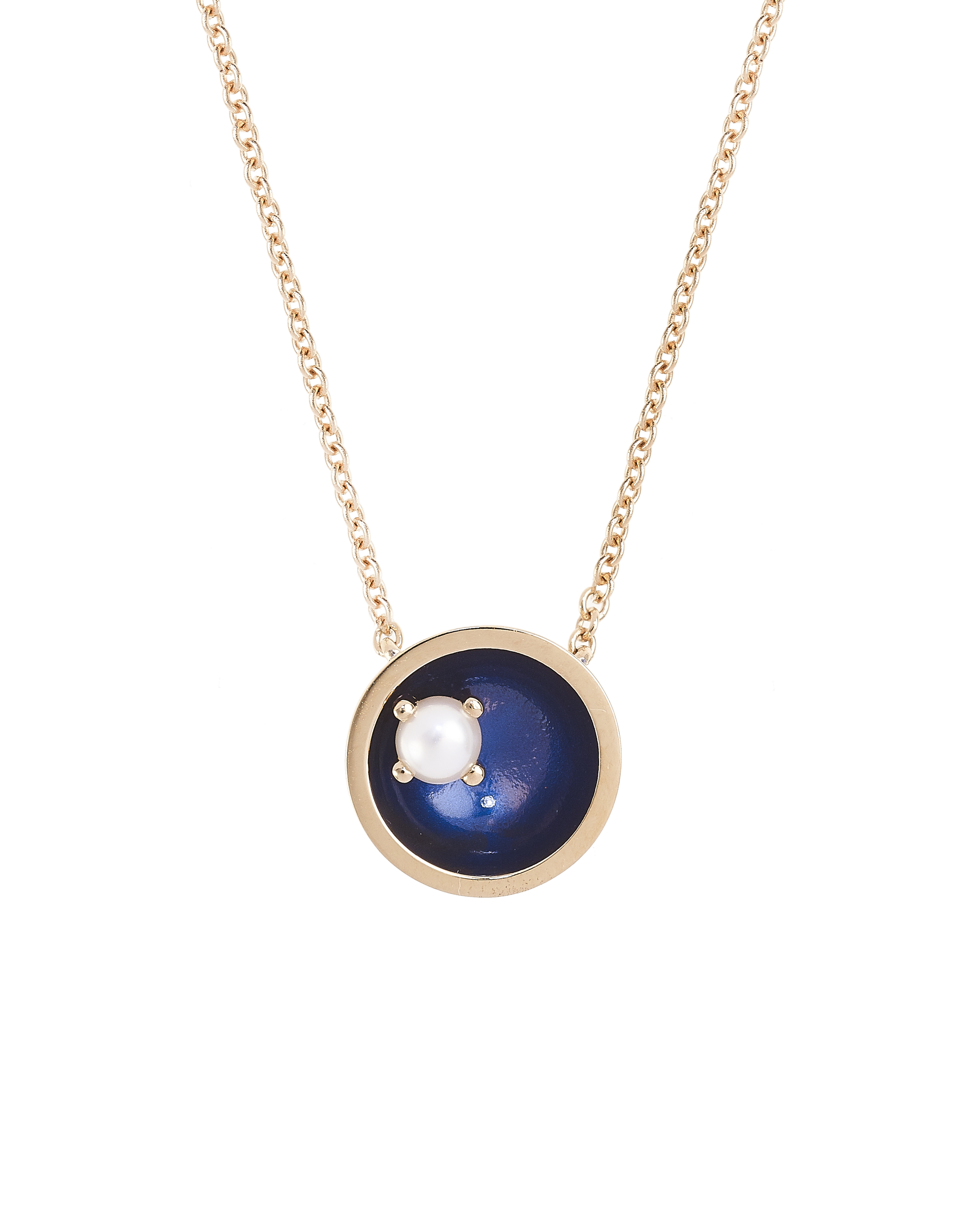 Large Floating Star Pearl Necklace by Marmari on curated-crowd.com