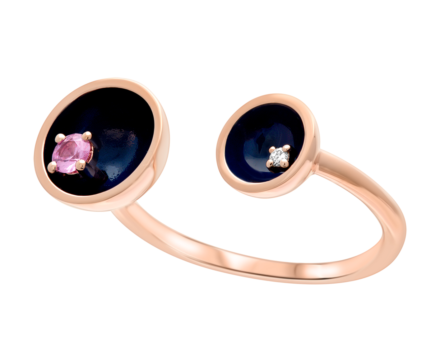 Two Floating stars Ring by Marmari on curated-crowd.com