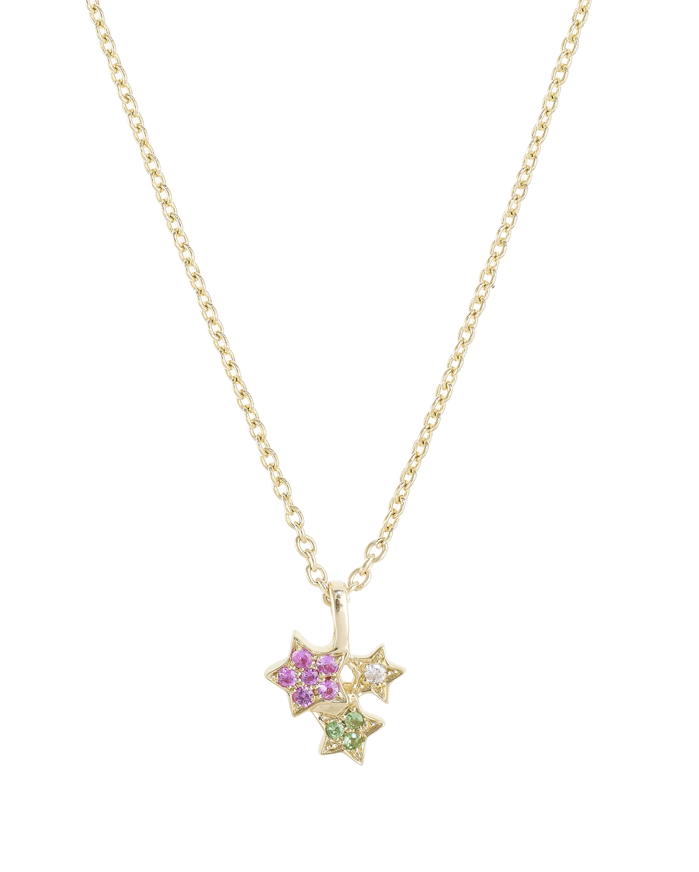 Golden Star Cluster Necklace by Marmari on curated-crowd.com
