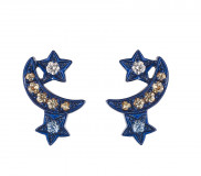 Midnight Lunar Cluster Earrings by Marmari on curated-crowd.com