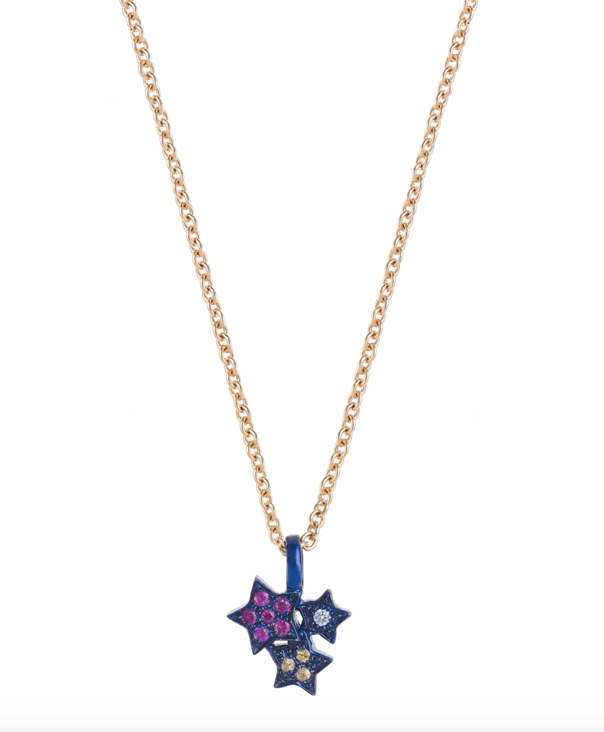 Midnight Colorful Star Cluster Necklace by Marmari on curated-crowd.com