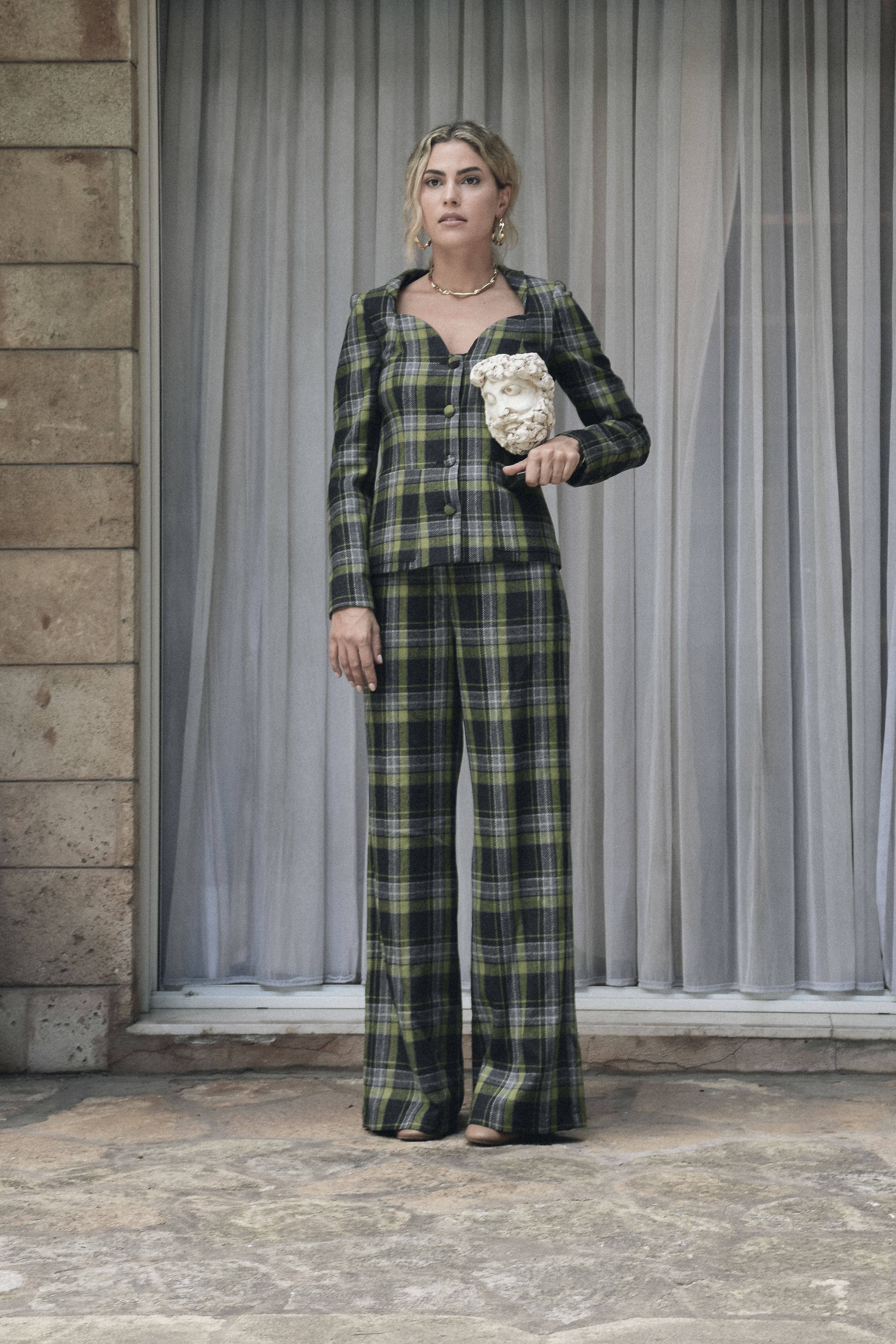 Caspien Pants - Green checks by Jessica K on curated-crowd.com