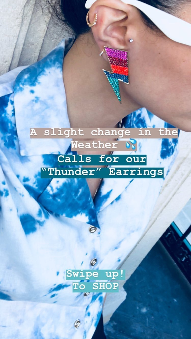 Thunder Multistrass Earrings by Jessica K on curated-crowd.com