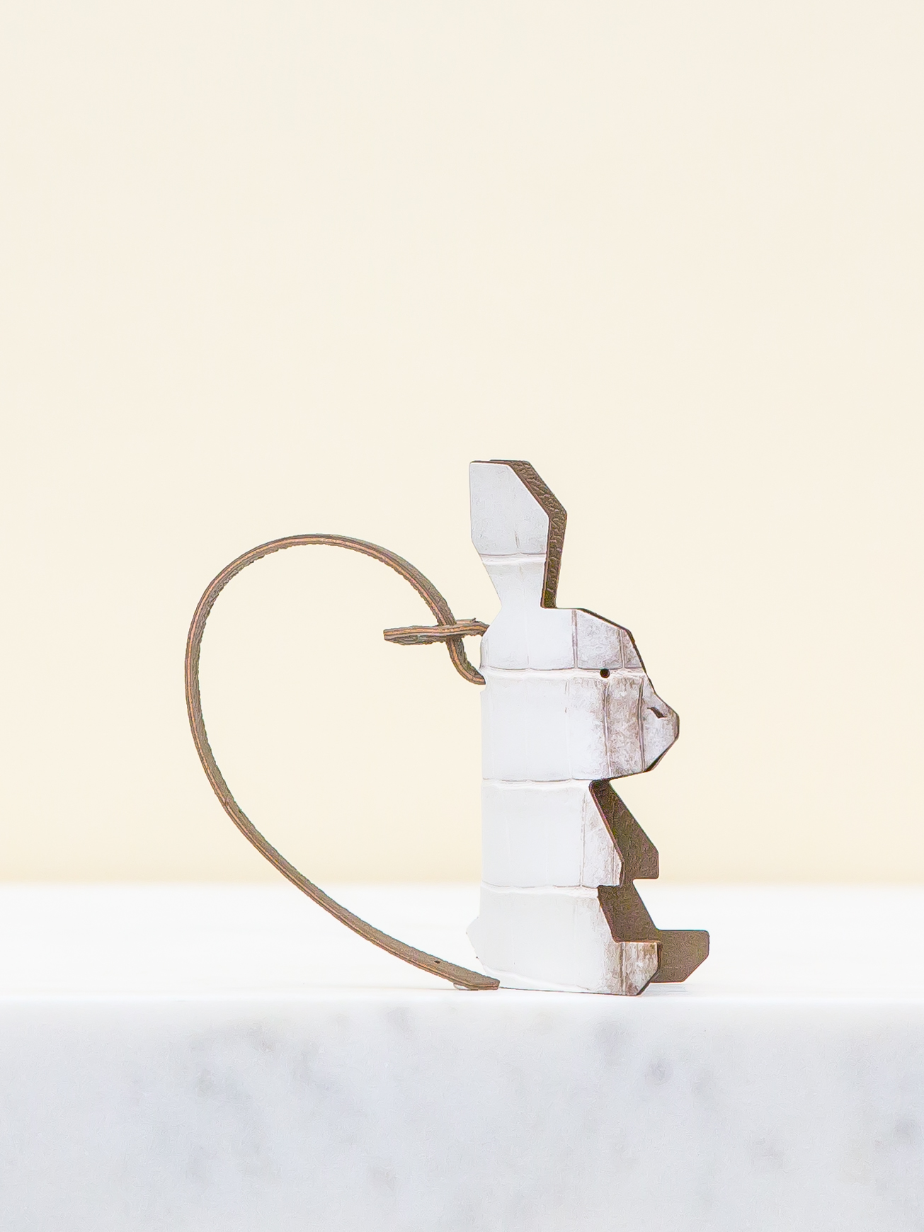 Chloe Bag Charm - White/Brown by Chance Mystère on curated-crowd.com