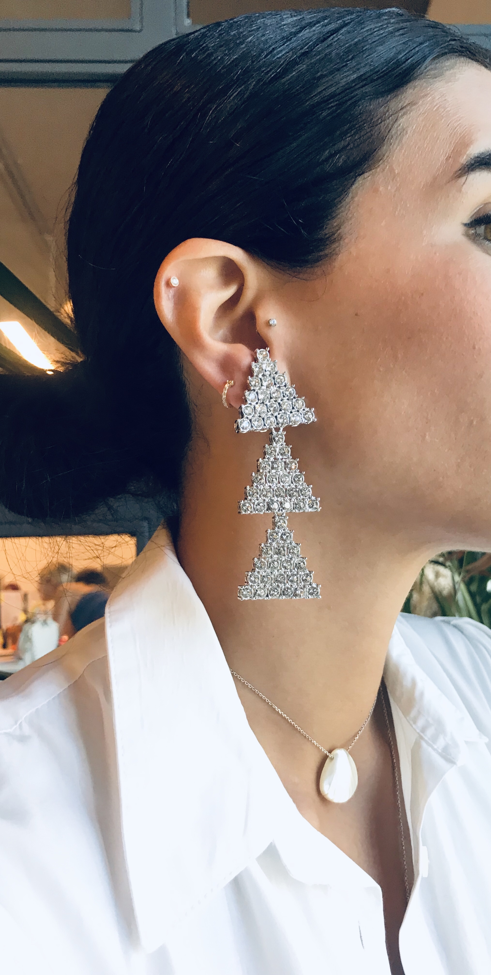 Triangle Lust Long Earrings by Jessica K on curated-crowd.com