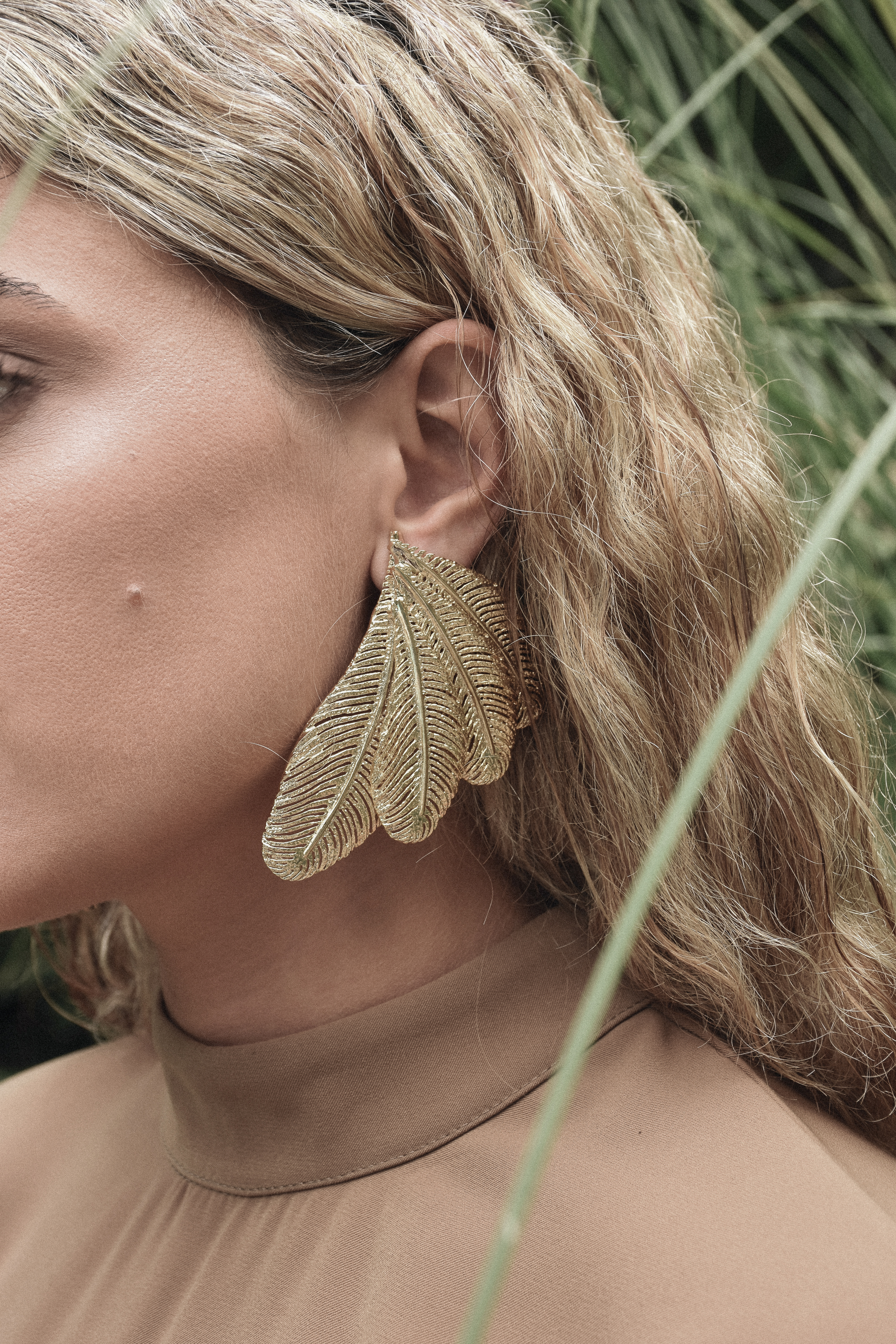 Palm Wing Earrings by Jessica K on curated-crowd.com