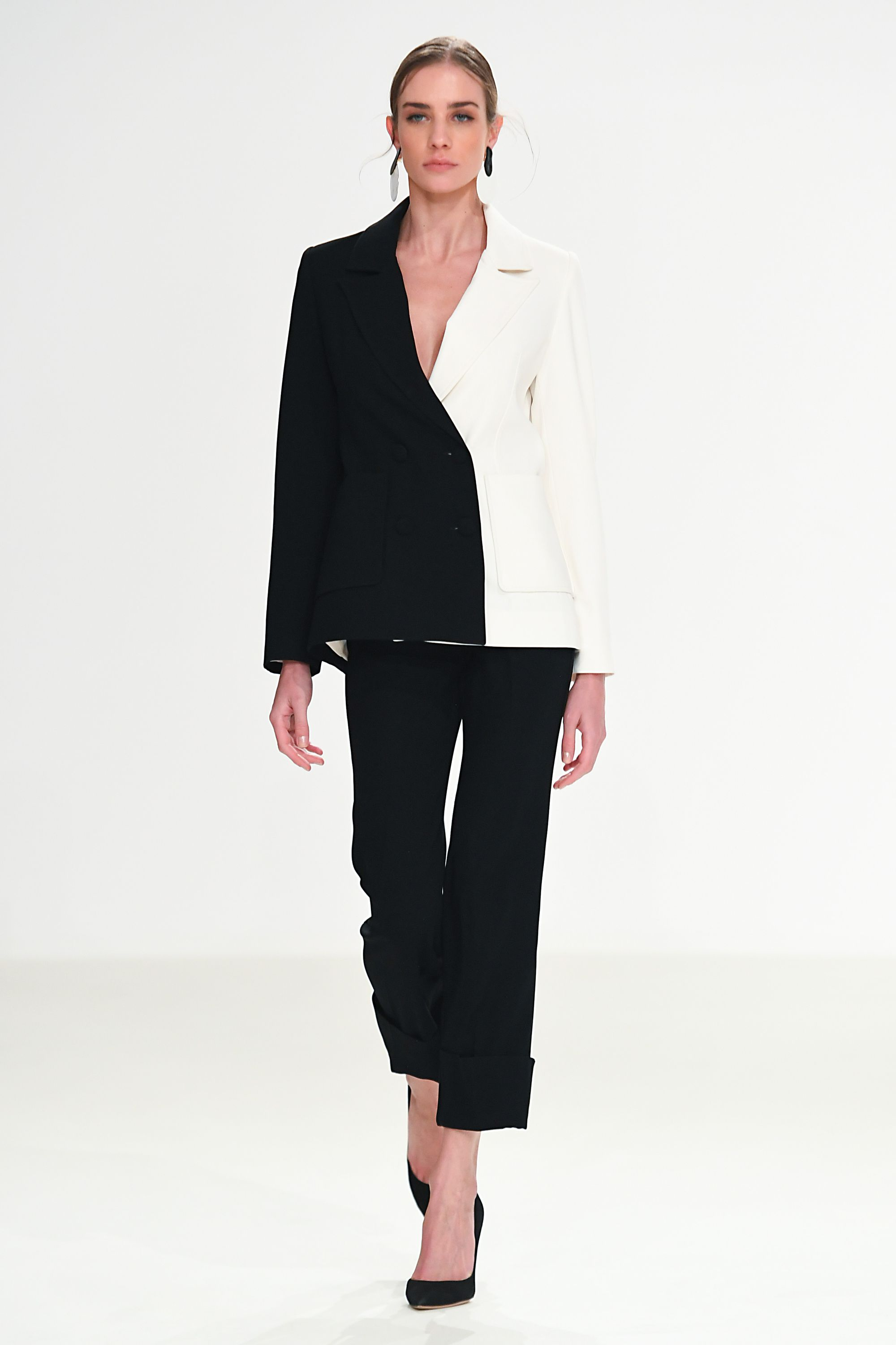 Whitney Blazer - Black and White by Jessica K on curated-crowd.com