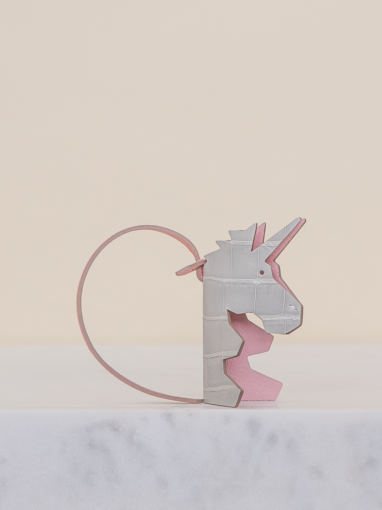 Magique Bag Charm - Grey by Chance Mystère on curated-crowd.com