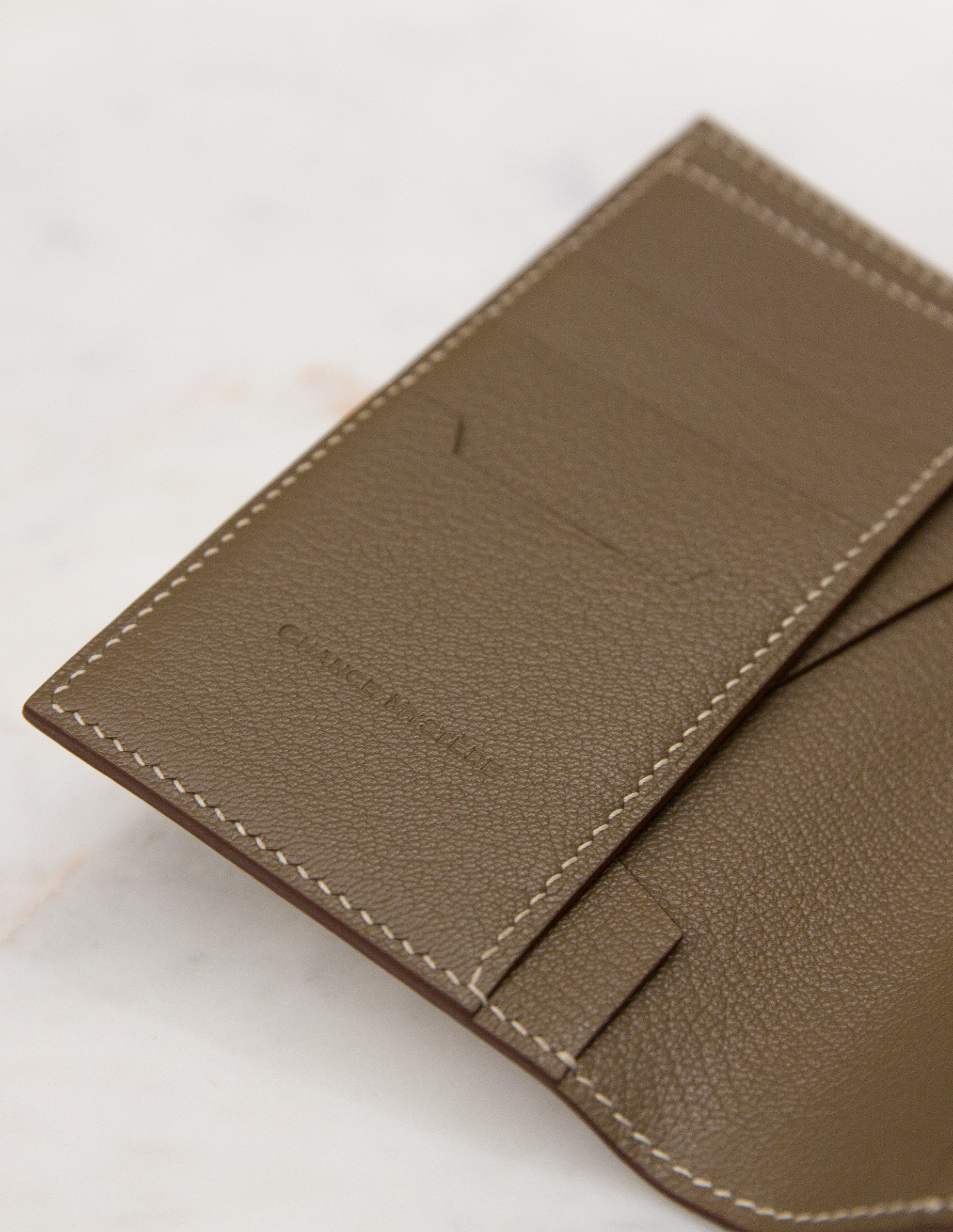 Passport Cover - White/Brown by Chance Mystère on curated-crowd.com