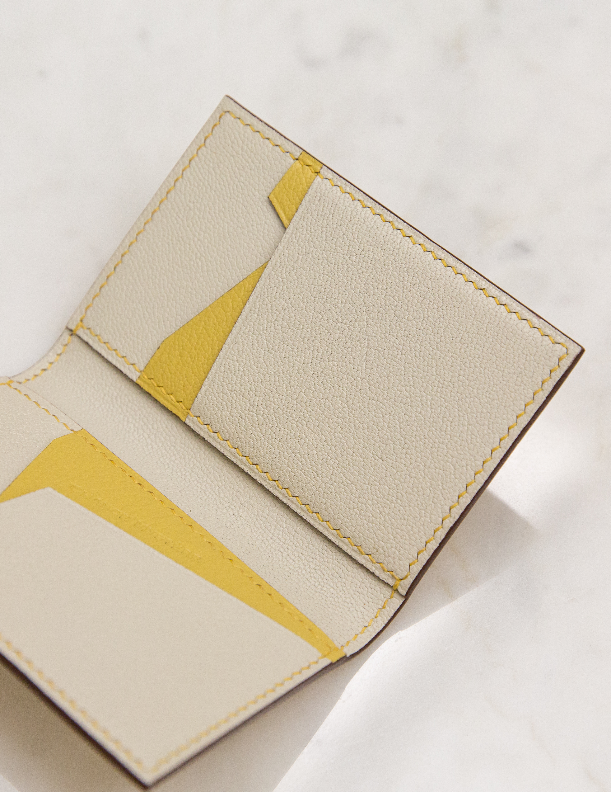 Bifold Cardholder BN - Yellow by Chance Mystère on curated-crowd.com