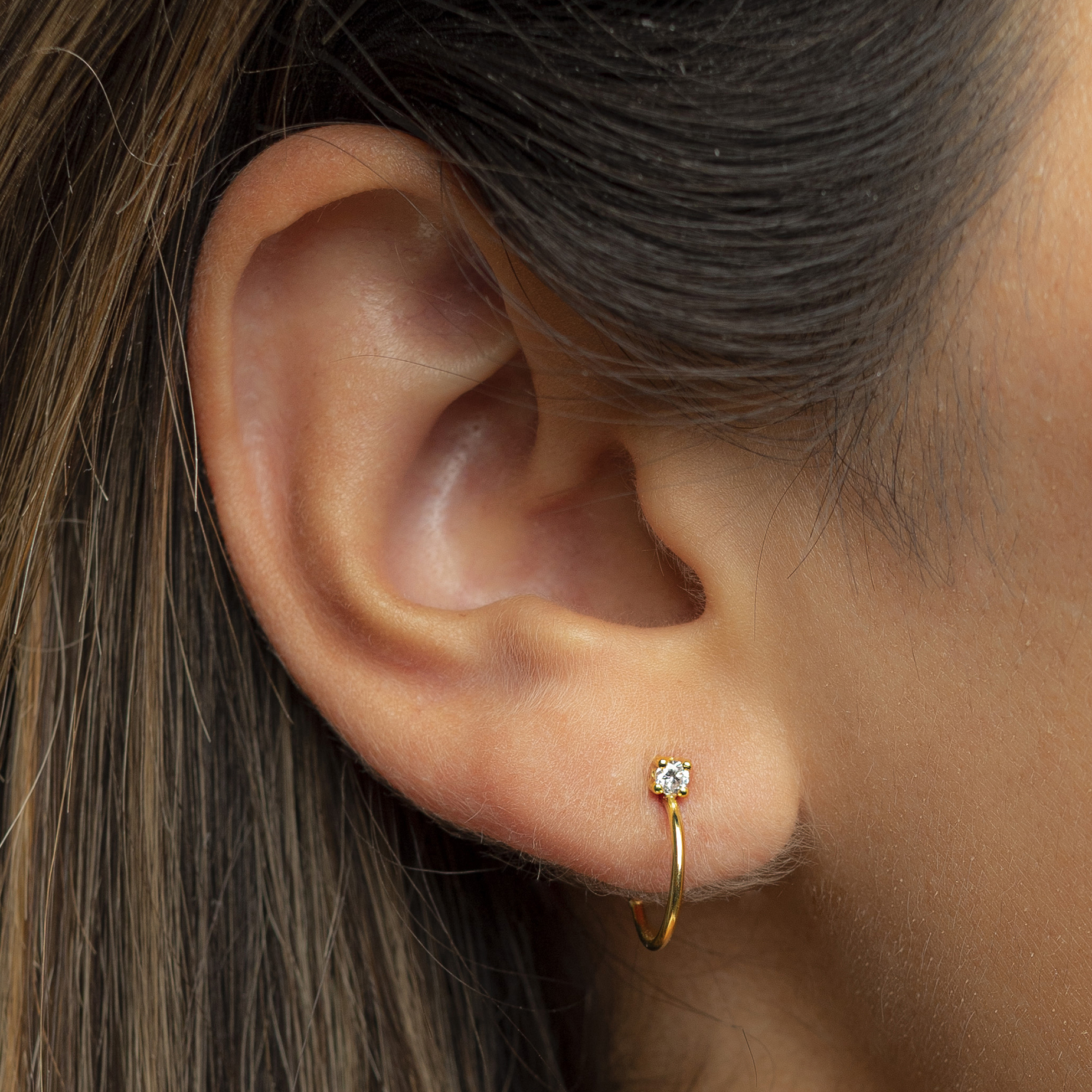 Flawless Mini Hoops by N-UE Fine Jewellery on curated-crowd.com