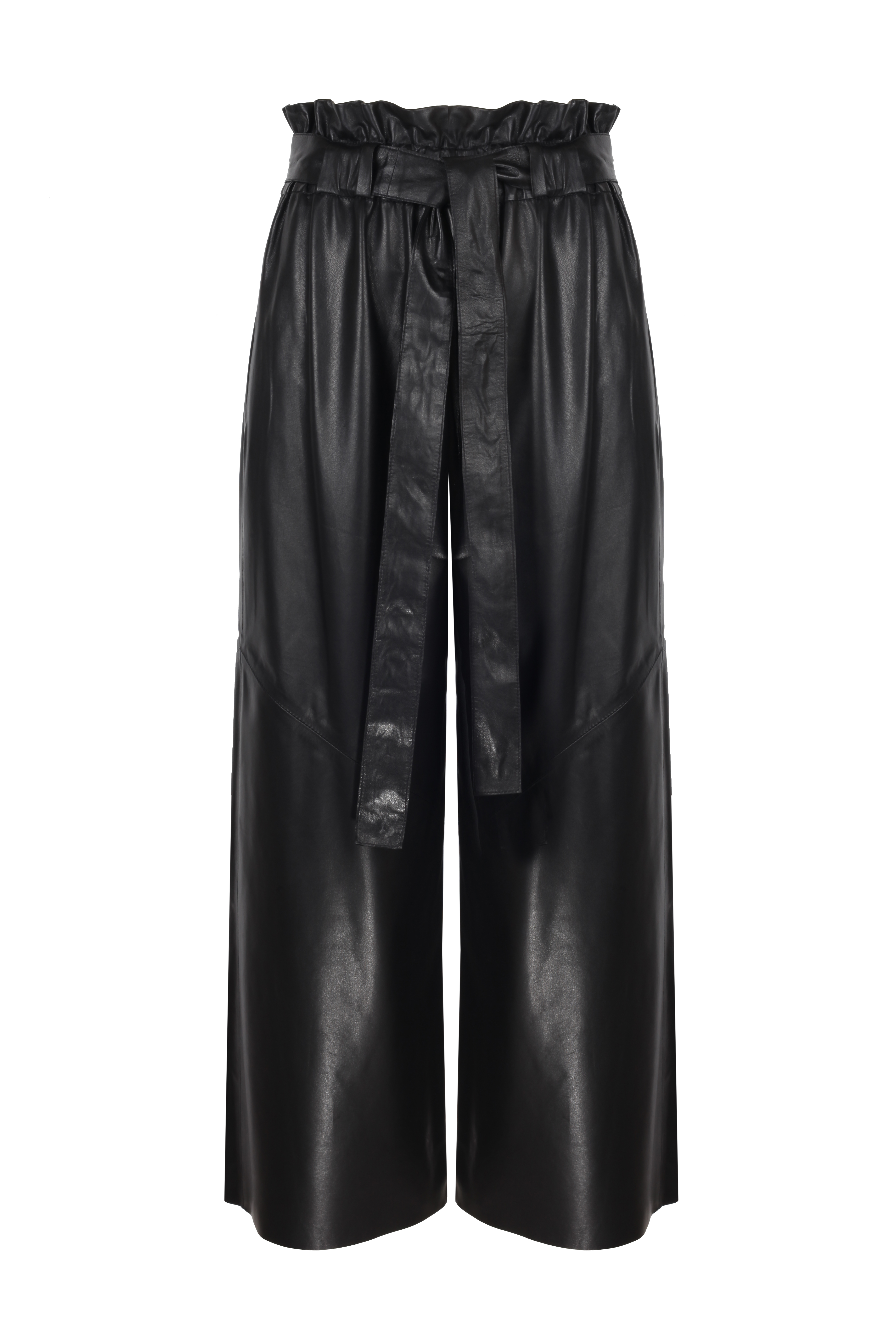 High Waisted Leather Pants - Black by The Ruf on curated-crowd.com
