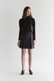 Short Leather skirt - Black by The Ruf on curated-crowd.com