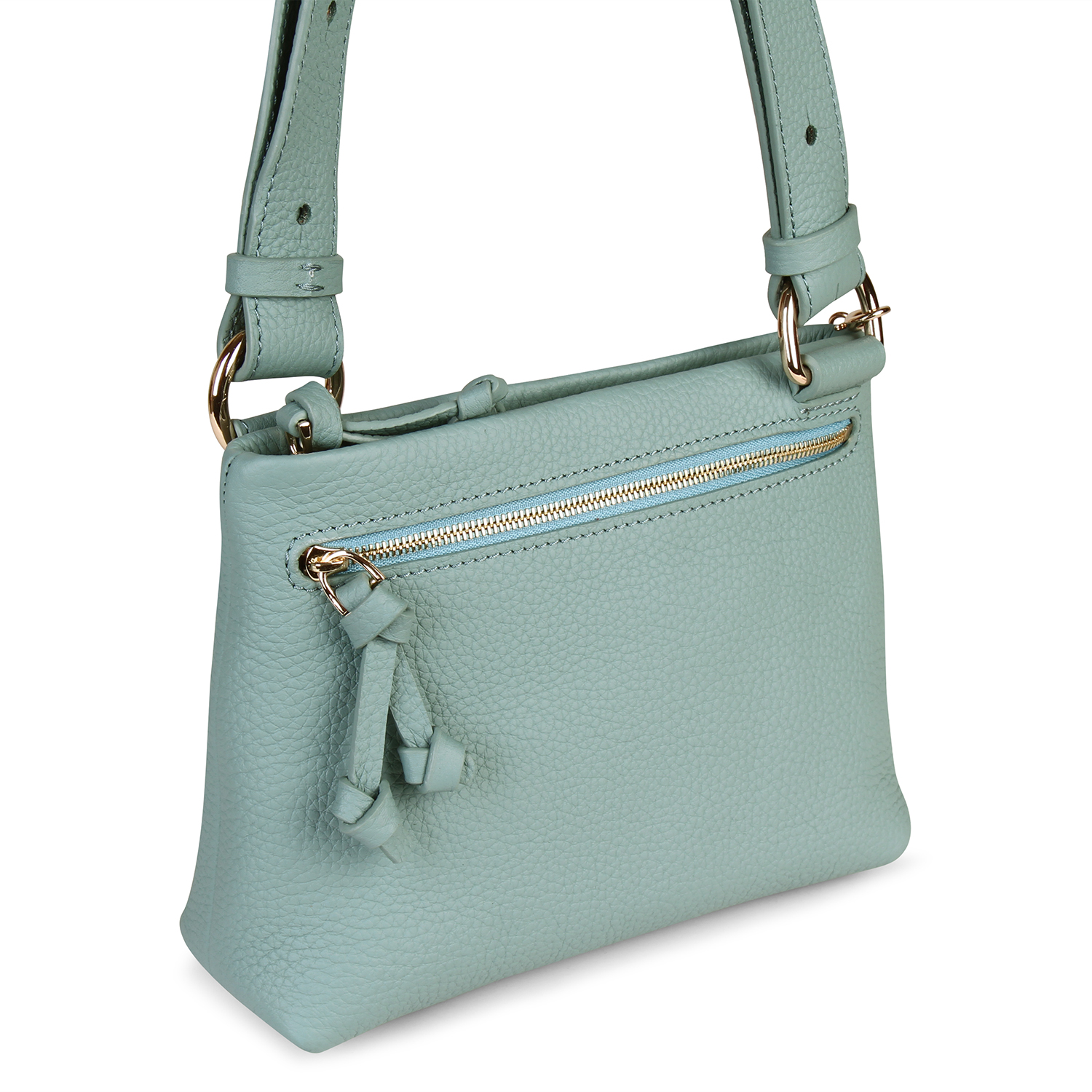 Mini Mayfair Shoulder Bag - Blue by Esin Akan on curated-crowd.com