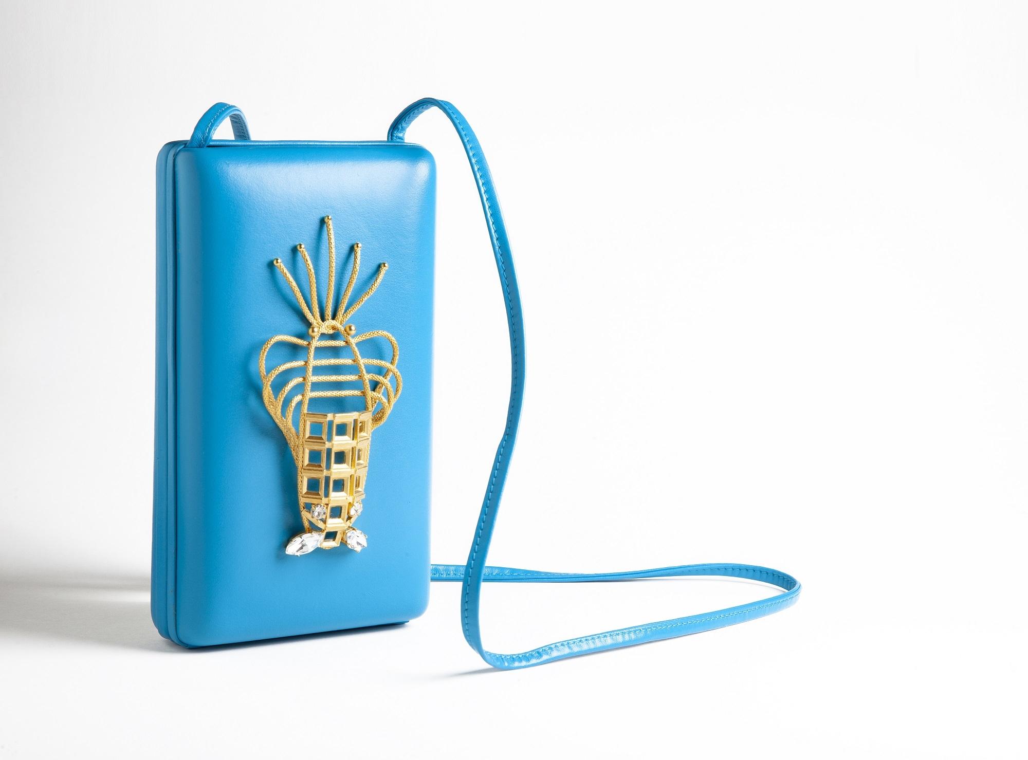 Blue Lobster Luxury Handbag by Sonia Petroff on curated-crowd.com
