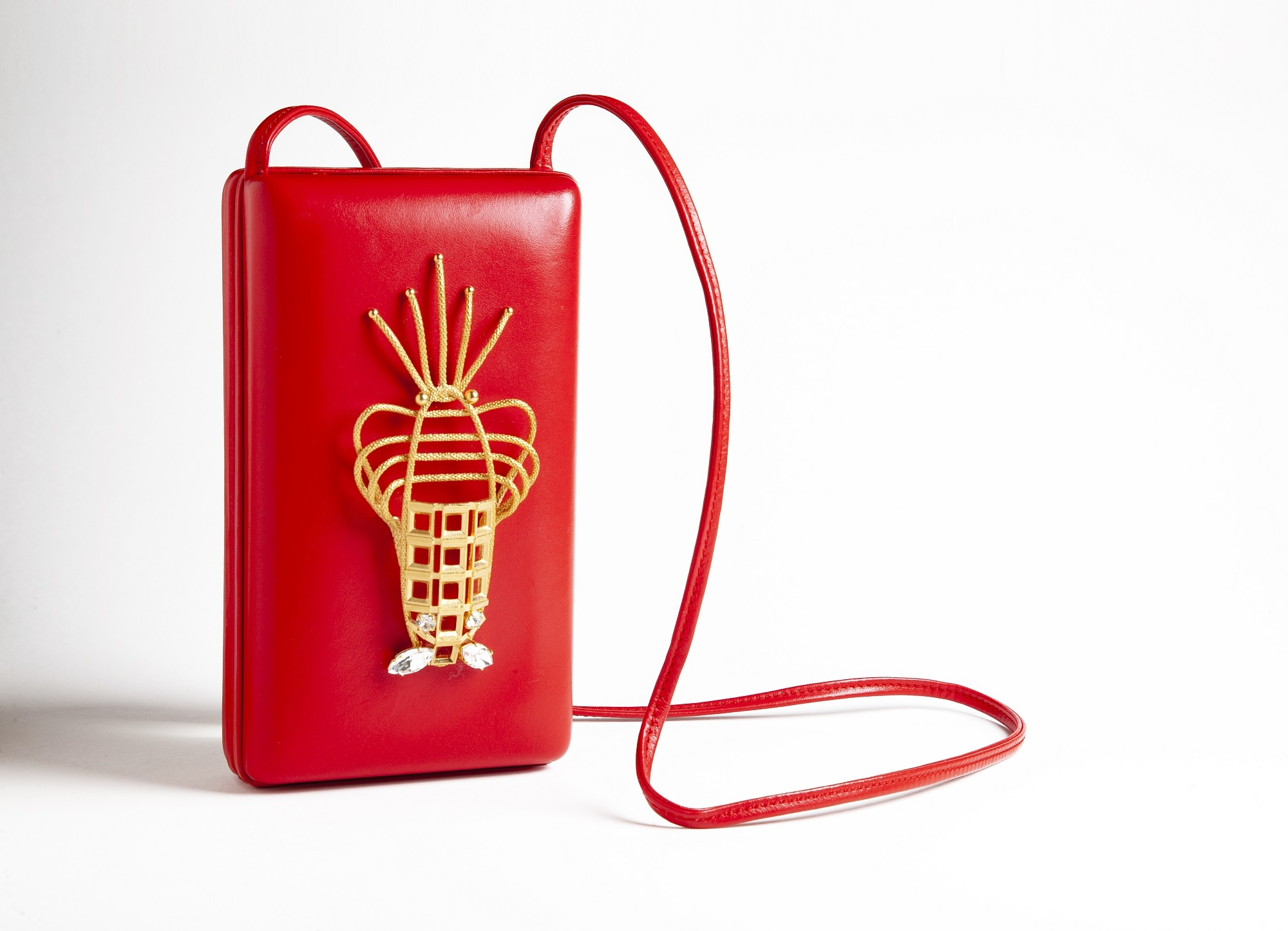 Red Lobster Luxury Handbag by Sonia Petroff on curated-crowd.com
