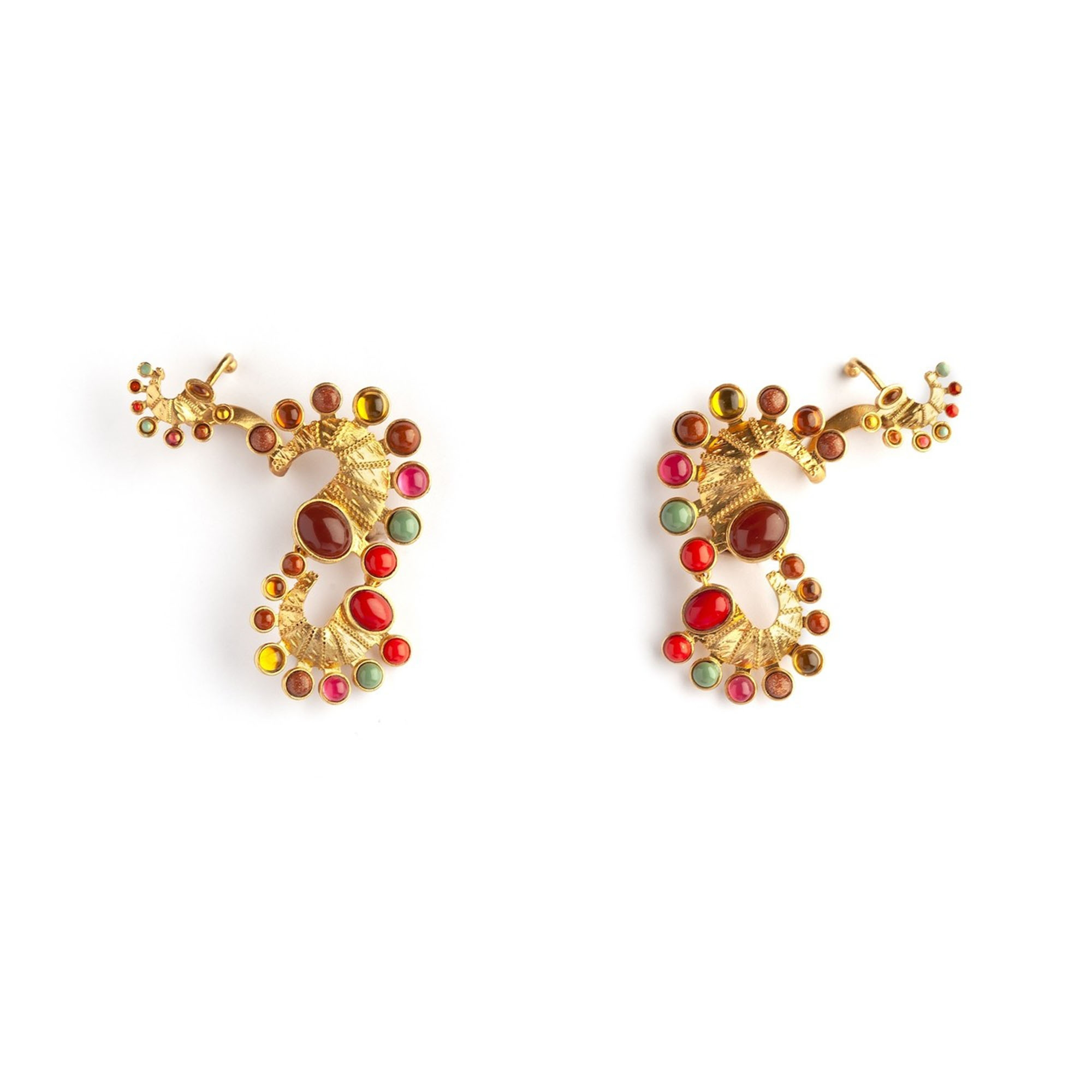 Seahorse Short Luxury Earrings by Sonia Petroff on curated-crowd.com
