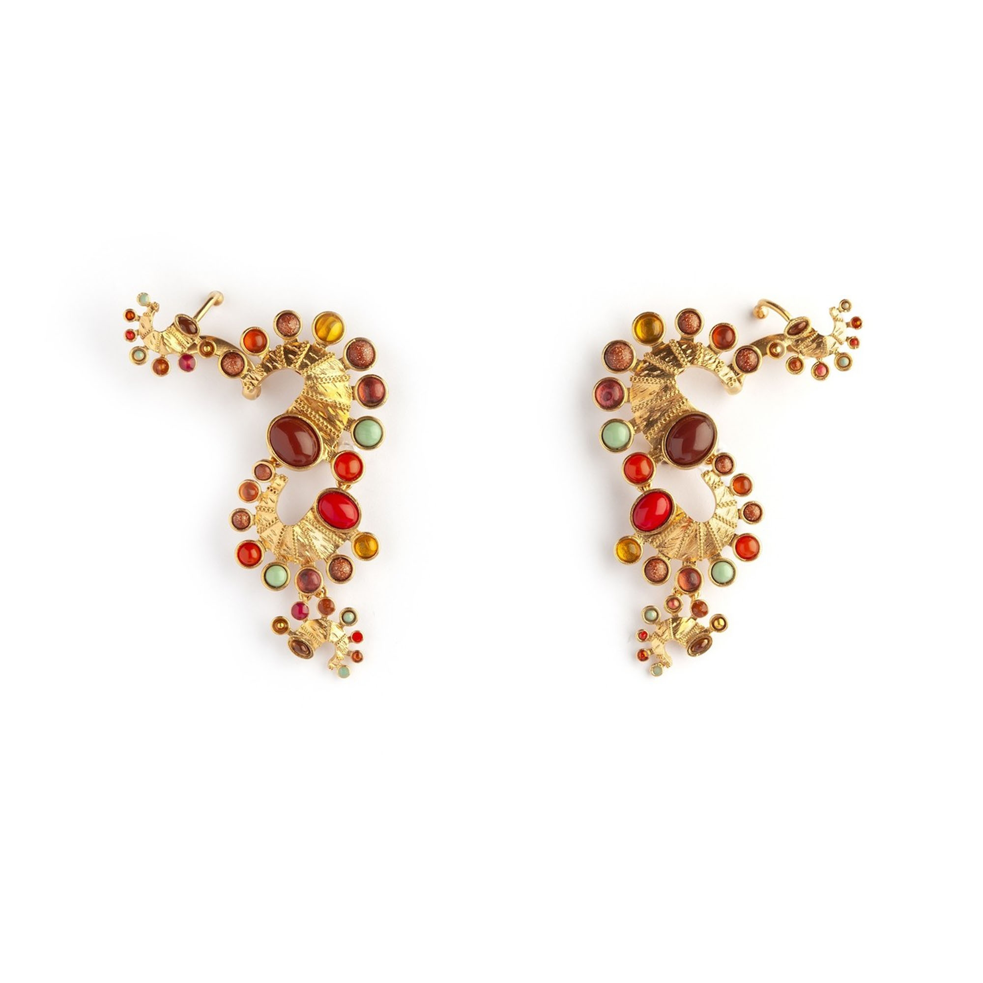 Seahorse Long Luxury Earrings by Sonia Petroff on curated-crowd.com