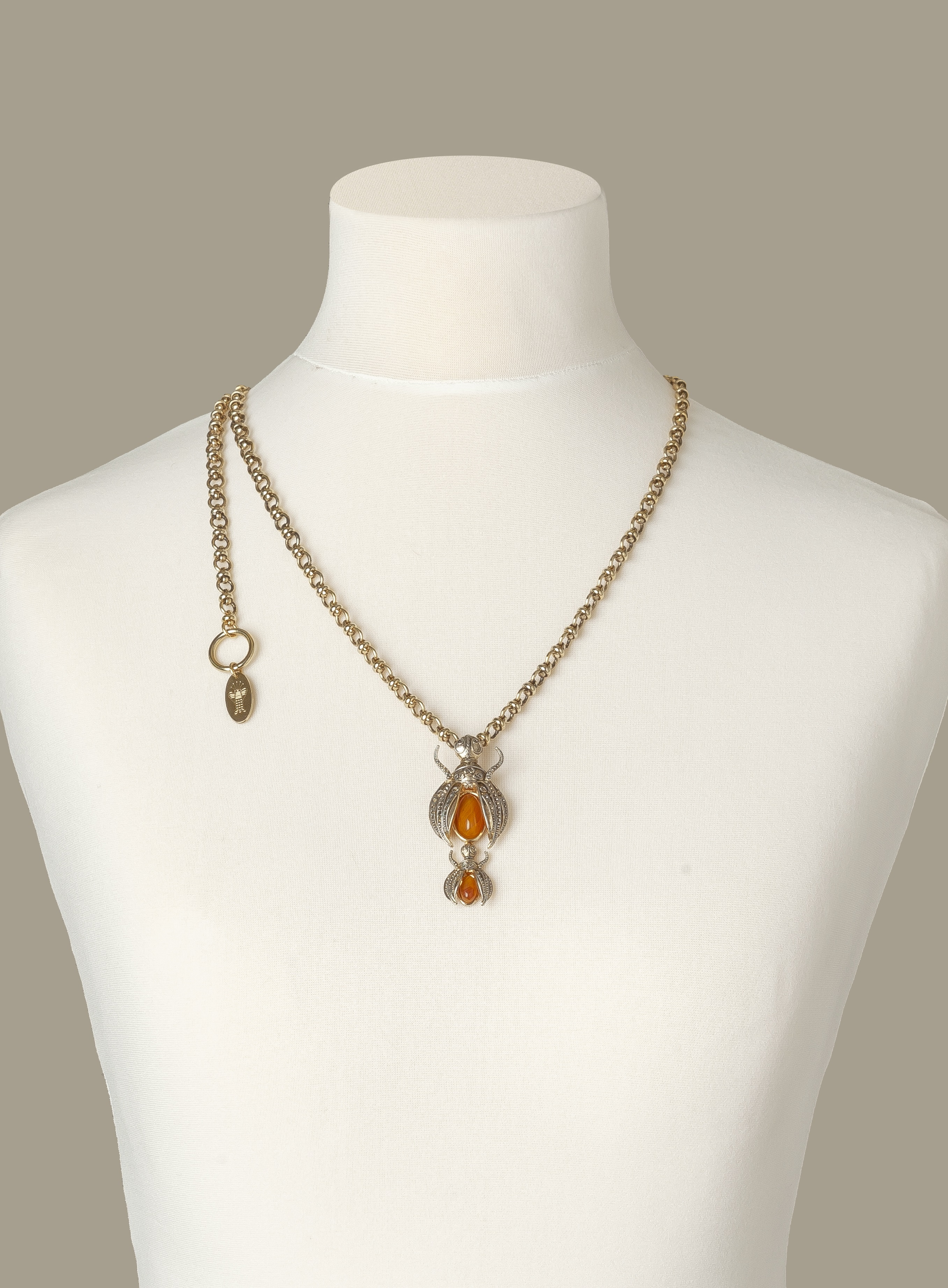 Gold Scarab Luxury Necklace by Sonia Petroff on curated-crowd.com