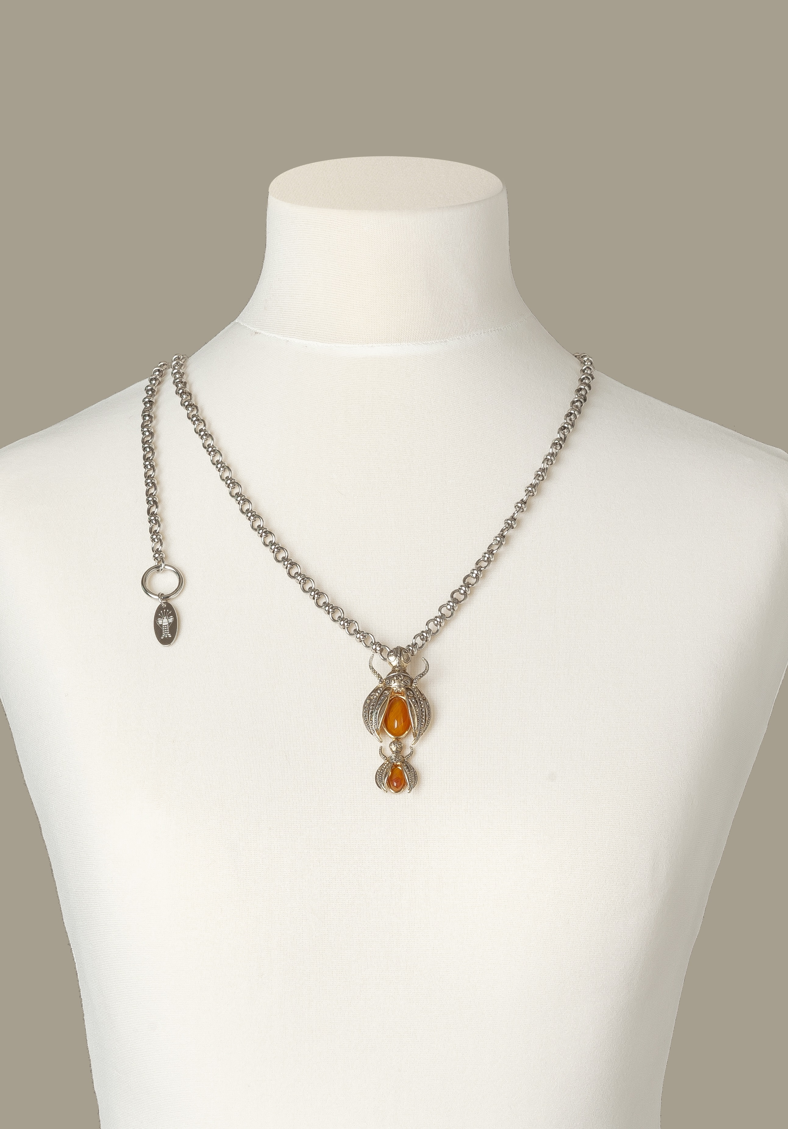 Silver Scarab Luxury Necklace by Sonia Petroff on curated-crowd.com