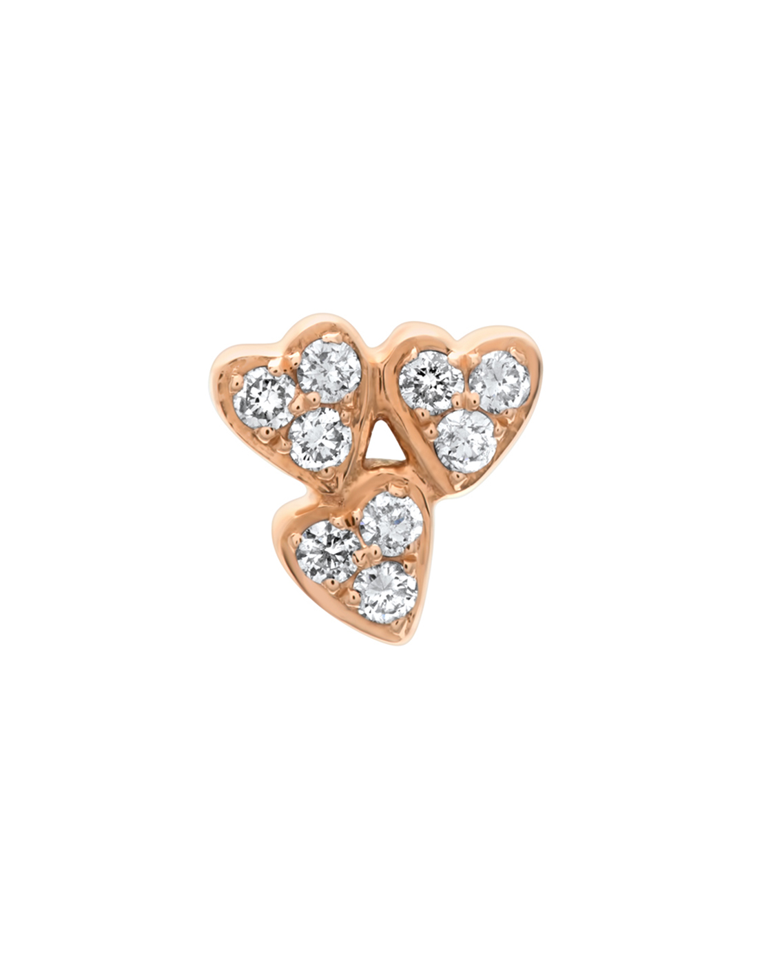 Queen of Hearts Diamond Cluster Earring by Marmari on curated-crowd.com