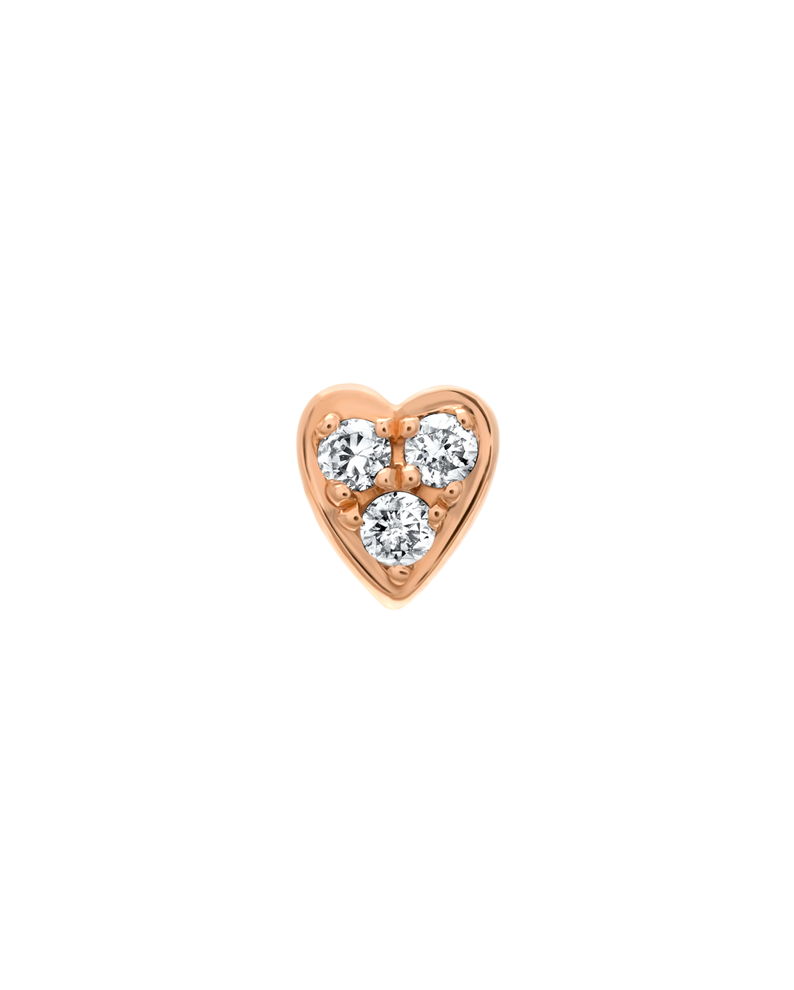 Queen of Hearts Single Diamond Heart Earring by Marmari on curated-crowd.com