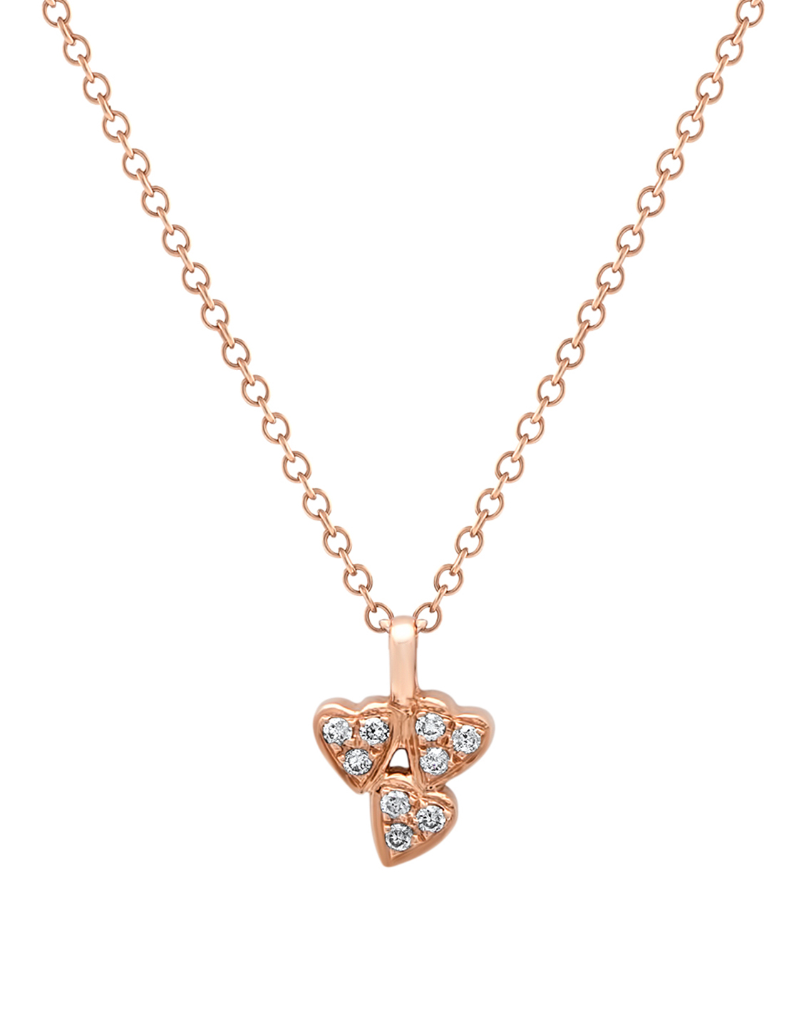 Queen of Hearts Diamond Cluster Necklace by Marmari on curated-crowd.com