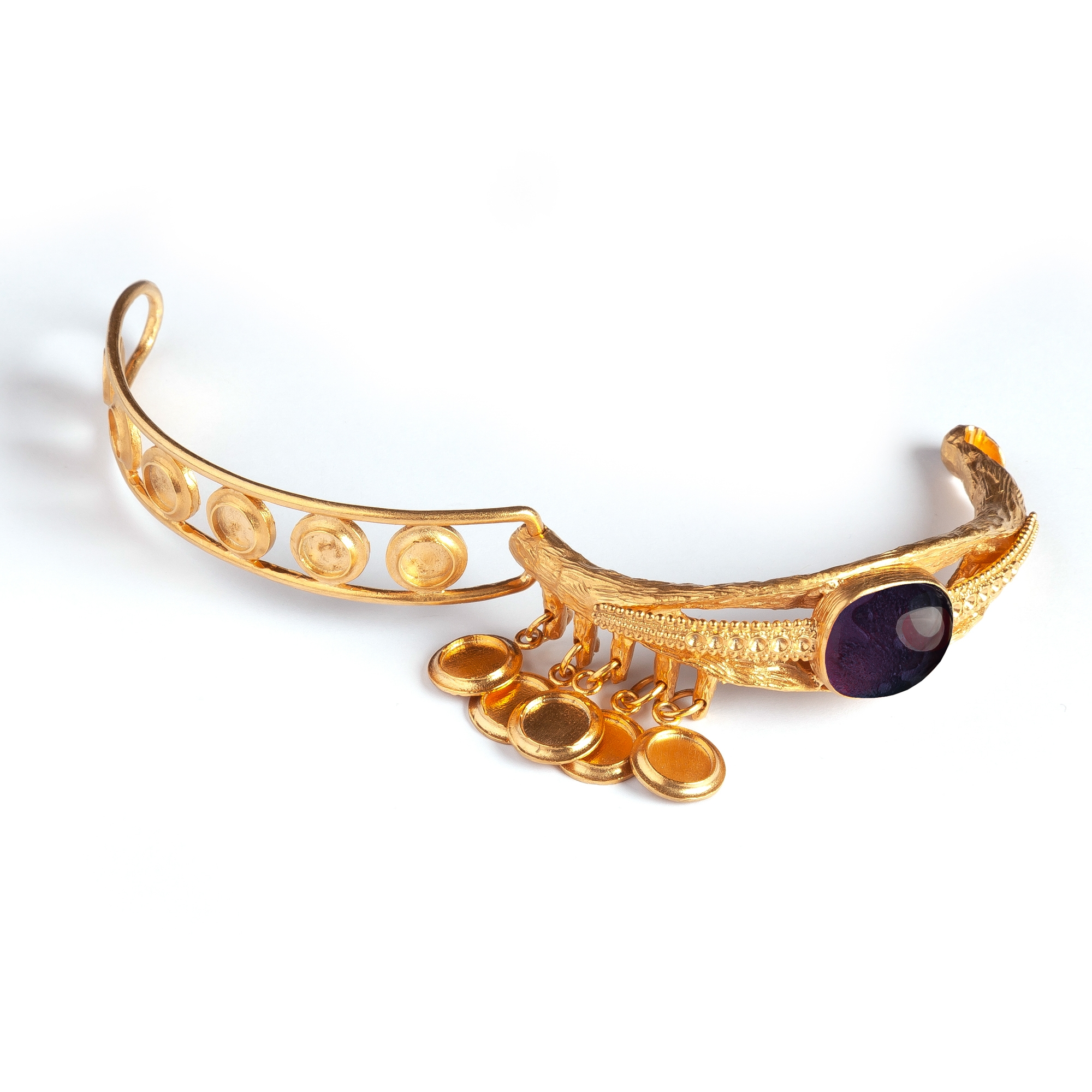 Onyx Eye Luxury Bracelet by Sonia Petroff on curated-crowd.com