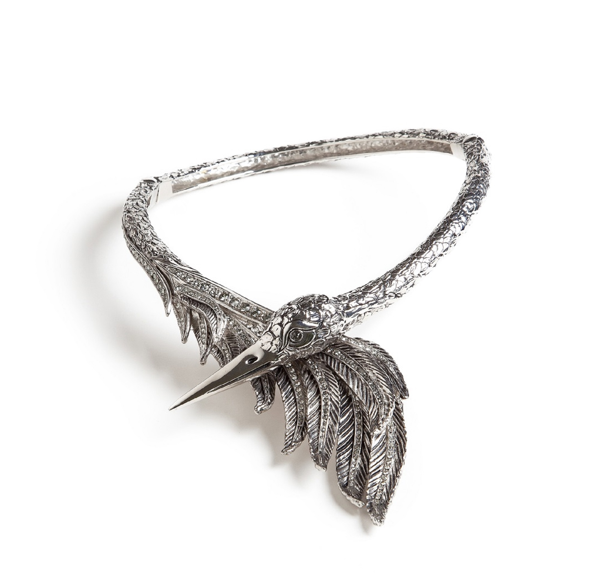Swan Costume Statement Necklace by Sonia Petroff on curated-crowd.com