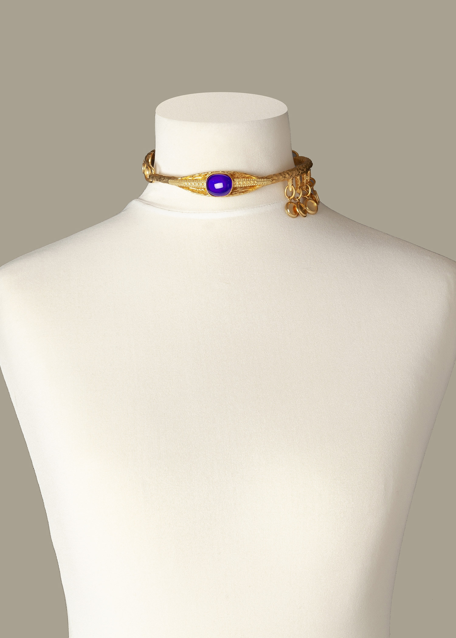 Sapphire Eye Luxury Necklace by Sonia Petroff on curated-crowd.com