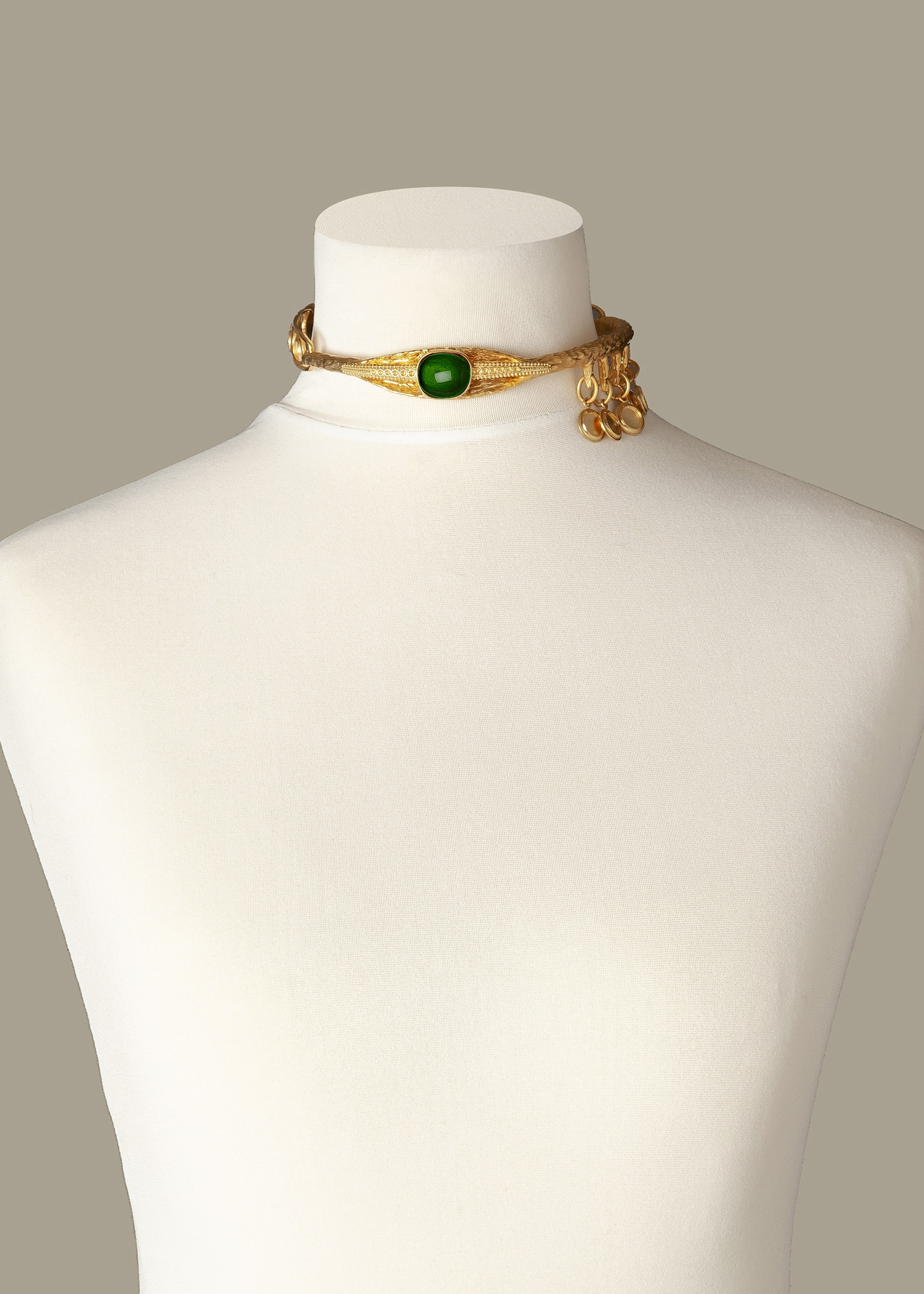 Emerald Eye Luxury Necklace by Sonia Petroff on curated-crowd.com