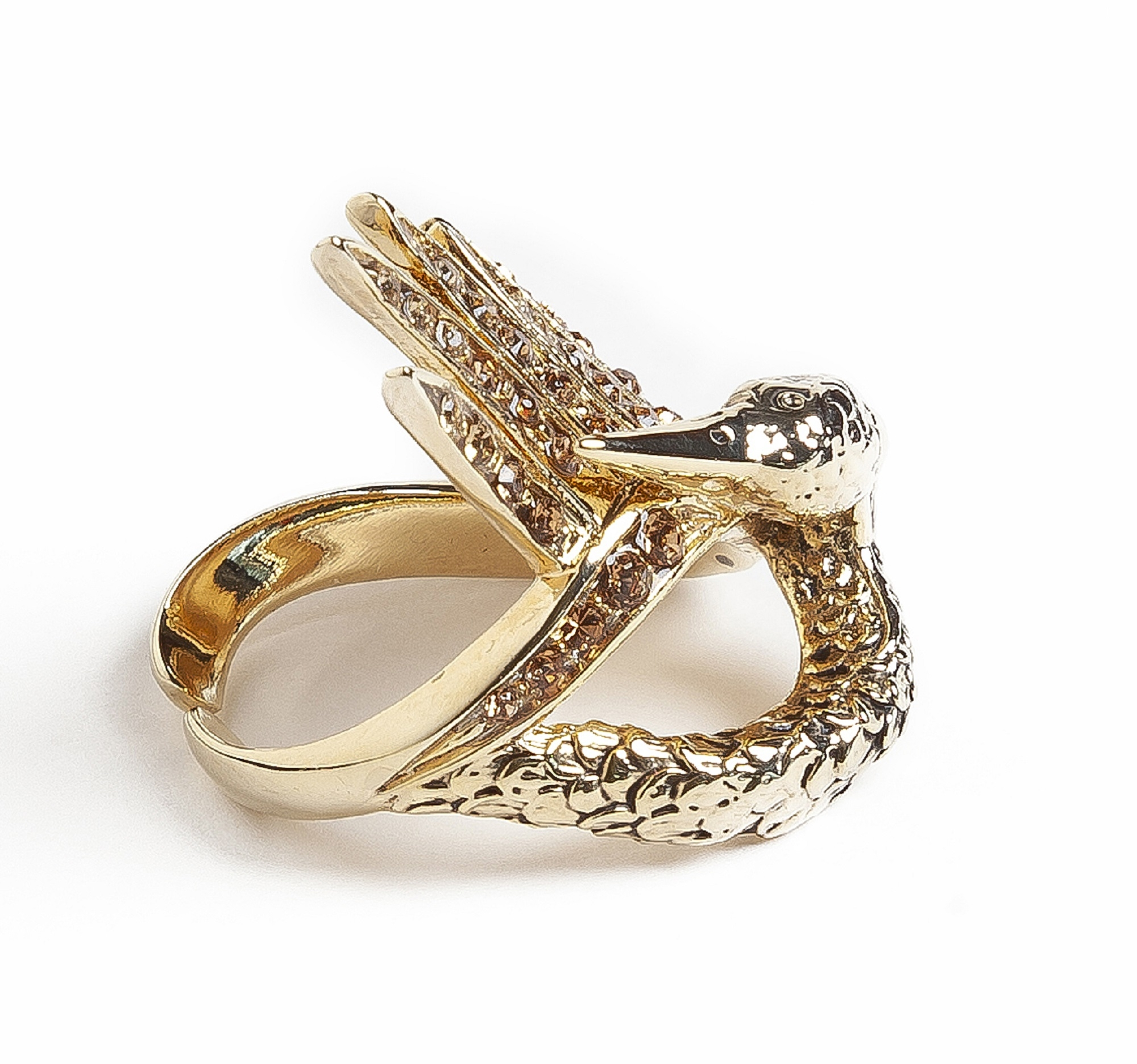 Gold Swan Luxury Ring by Sonia Petroff on curated-crowd.com