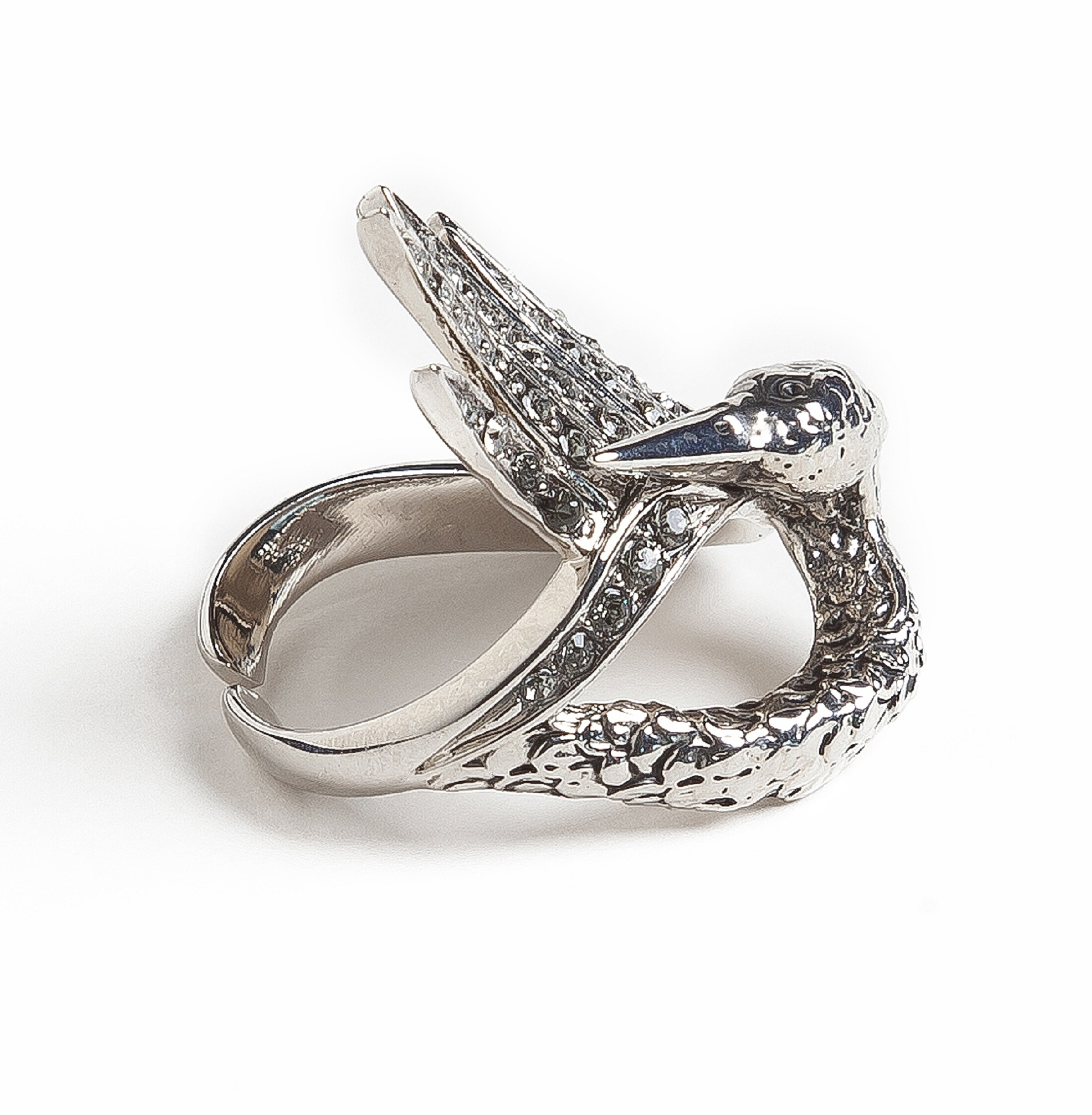 Silver Swan Luxury Ring by Sonia Petroff on curated-crowd.com