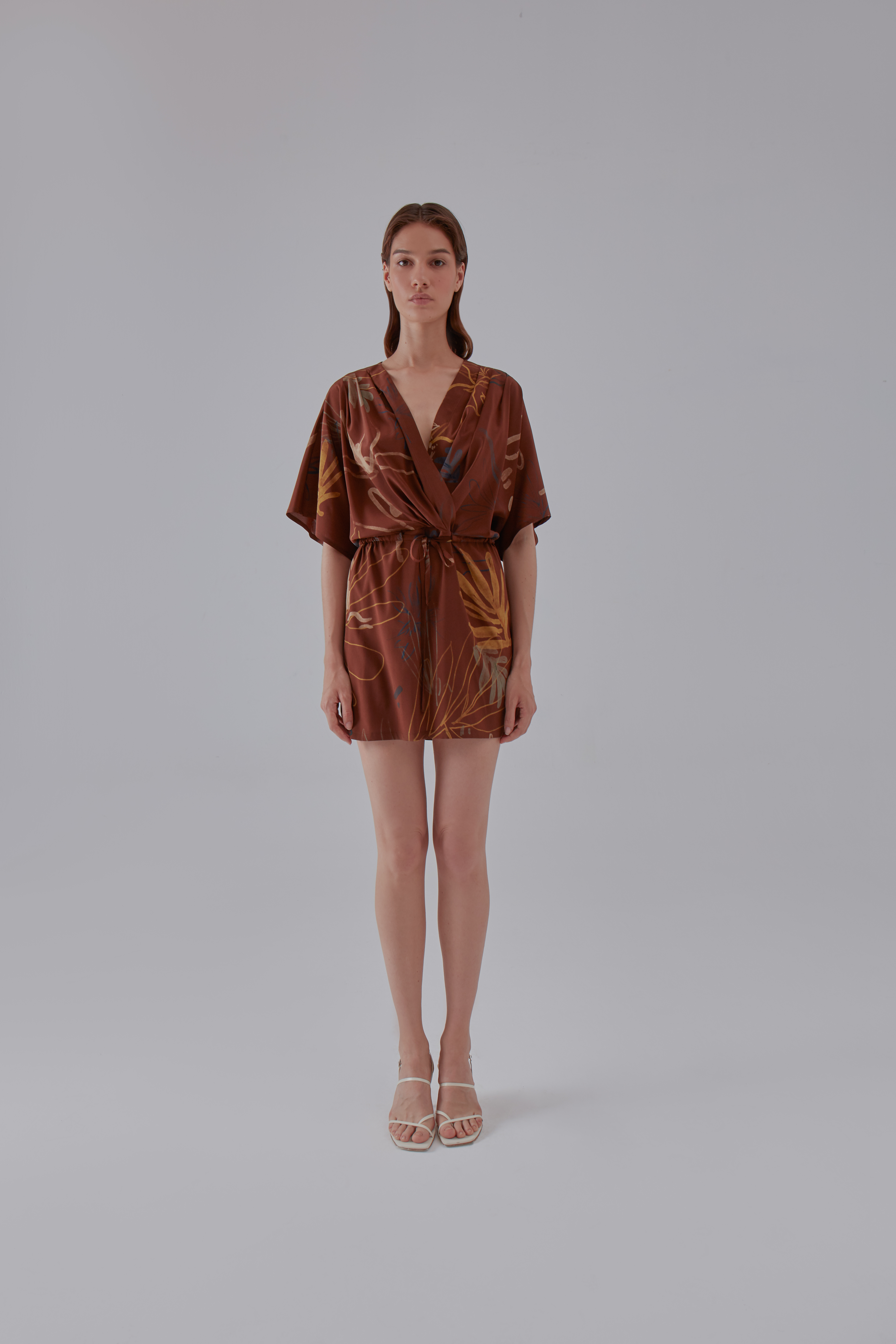 Vamos Dress - Brown by Laika on curated-crowd.com