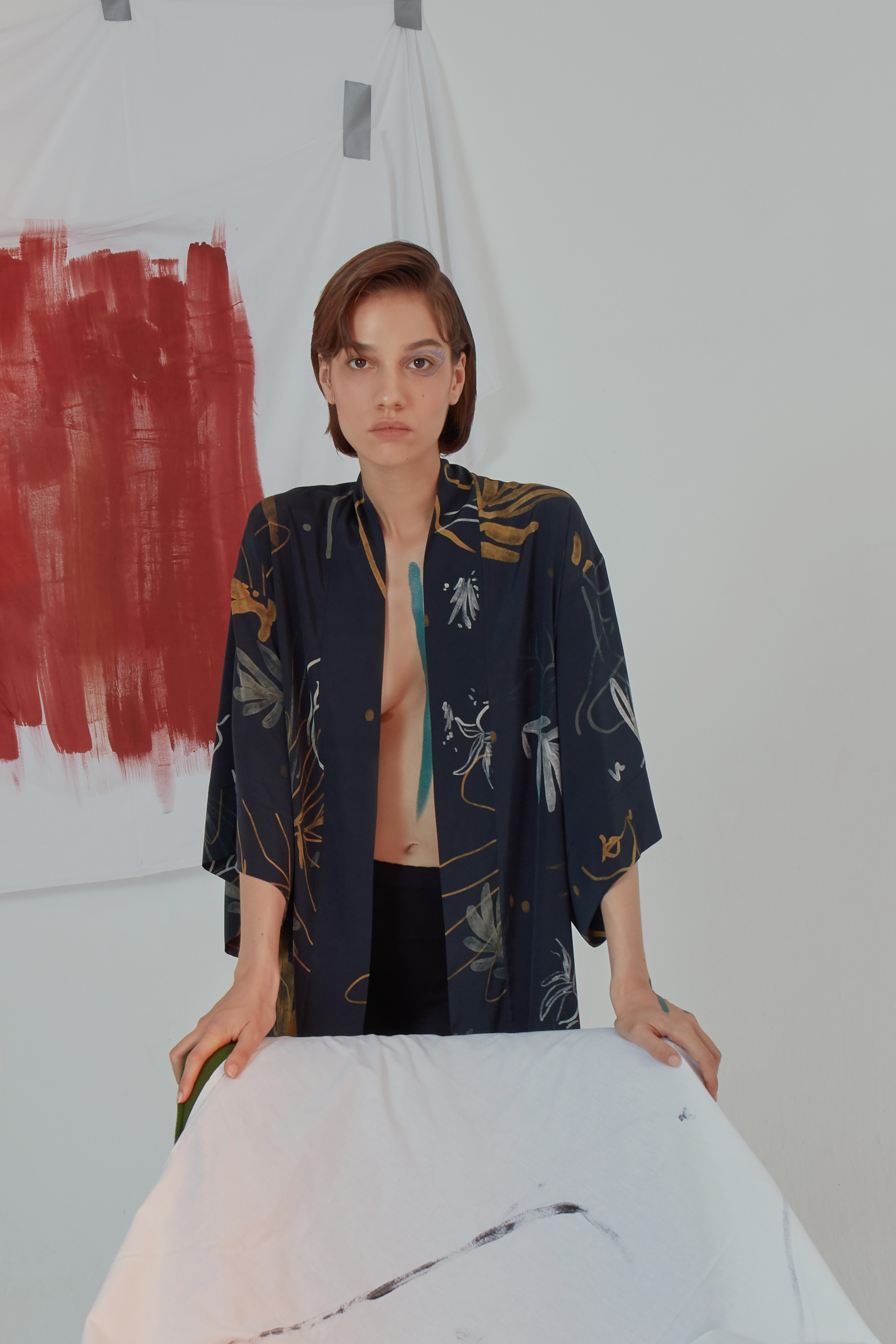 Yoko Kimono - Blue by Laika on curated-crowd.com