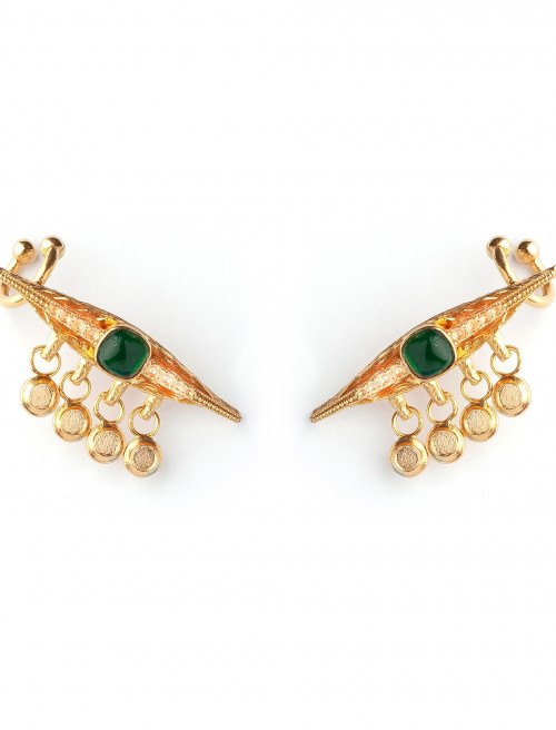 Emerald Eye Luxury Earrings by Sonia Petroff on curated-crowd.com