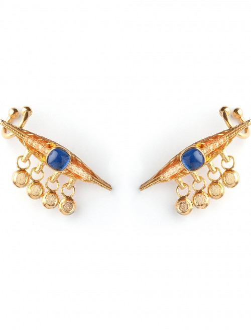Sapphire Eye Luxury Earrings by Sonia Petroff on curated-crowd.com