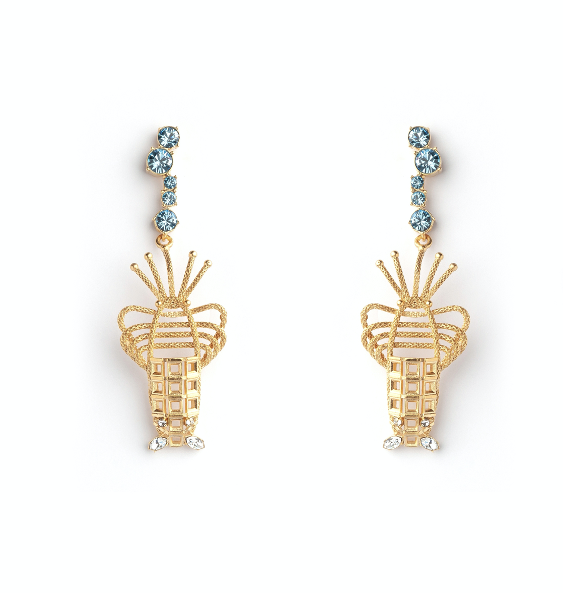 Lobster Pierced Luxury Earrings by Sonia Petroff on curated-crowd.com