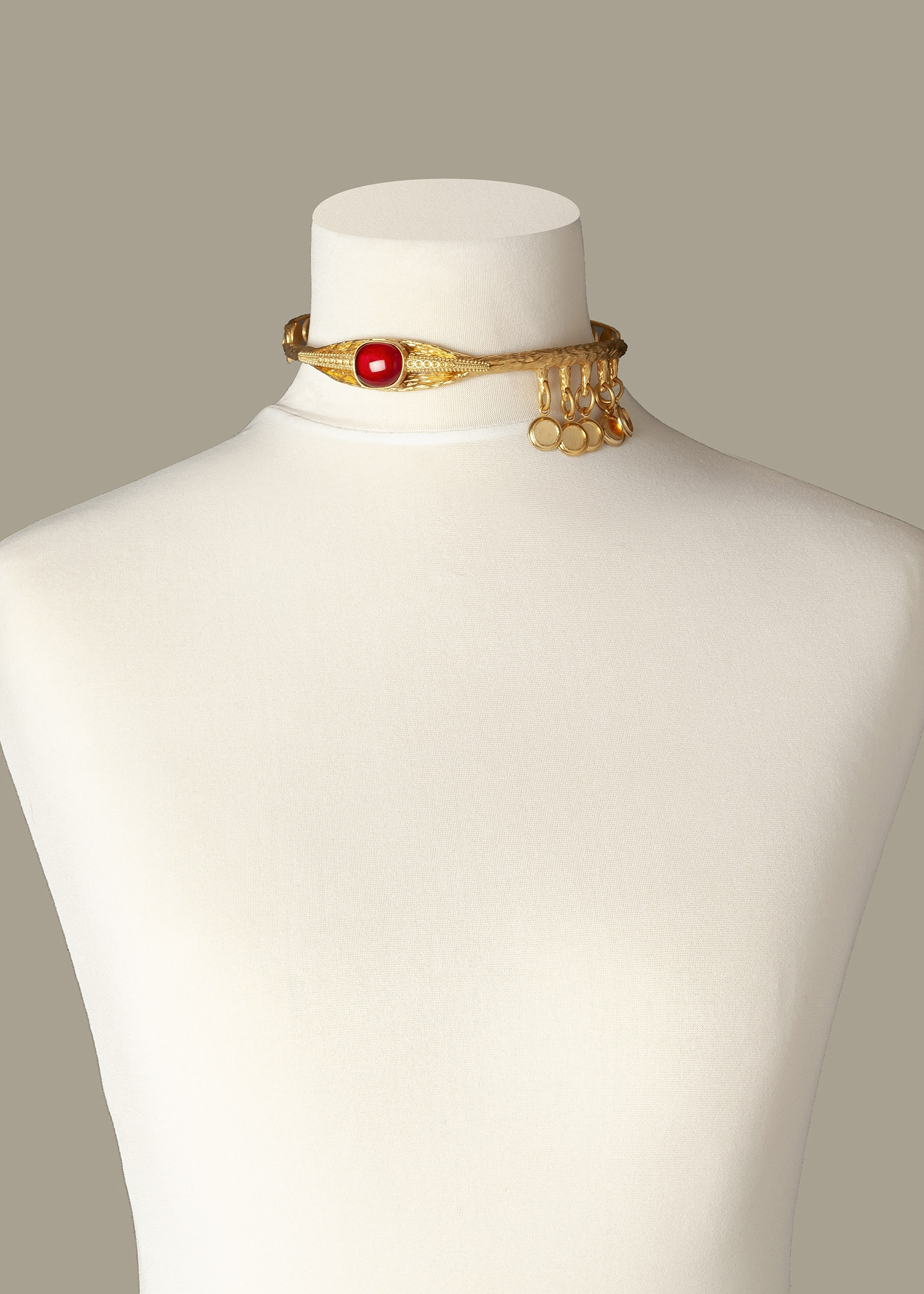 Ruby Eye Luxury Necklace by Sonia Petroff on curated-crowd.com