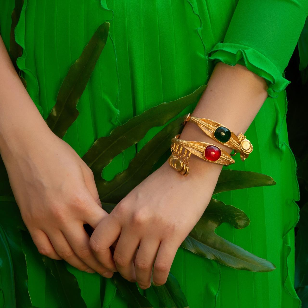 Emerald Eye Luxury Bracelet by Sonia Petroff on curated-crowd.com