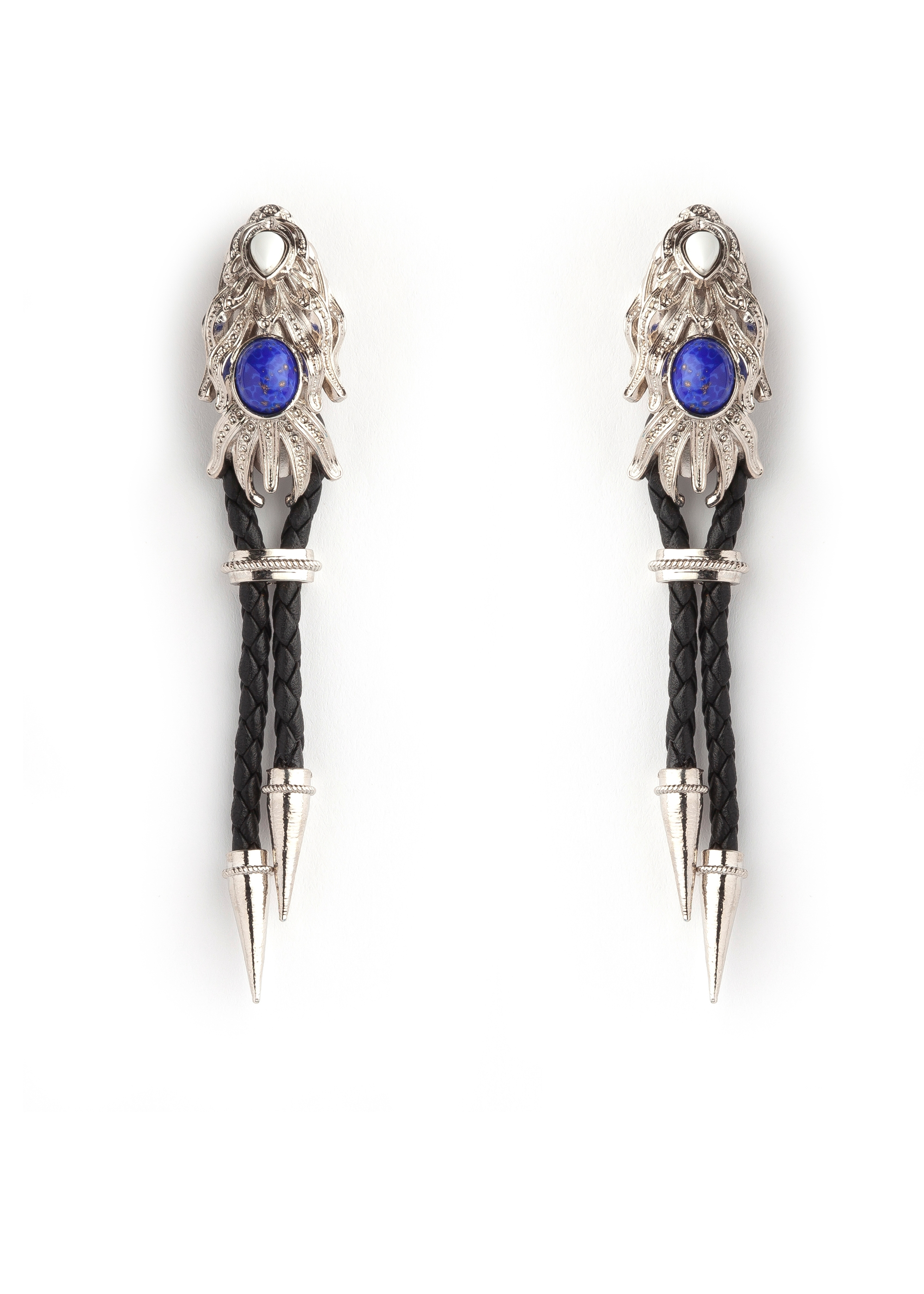 Black Silver Dragonfish Luxury Earrings by Sonia Petroff on curated-crowd.com