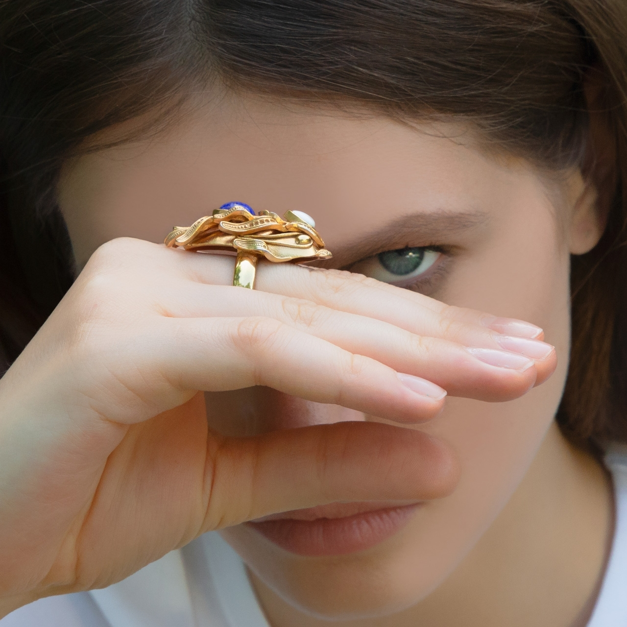 Gold Dragonfish Luxury Ring by Sonia Petroff on curated-crowd.com