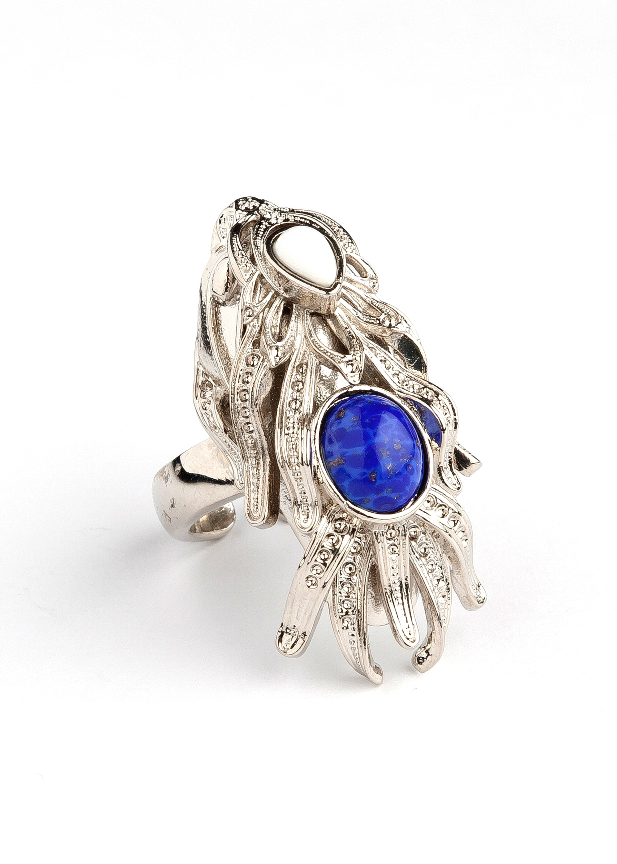 Silver Dragonfish Luxury Ring by Sonia Petroff on curated-crowd.com