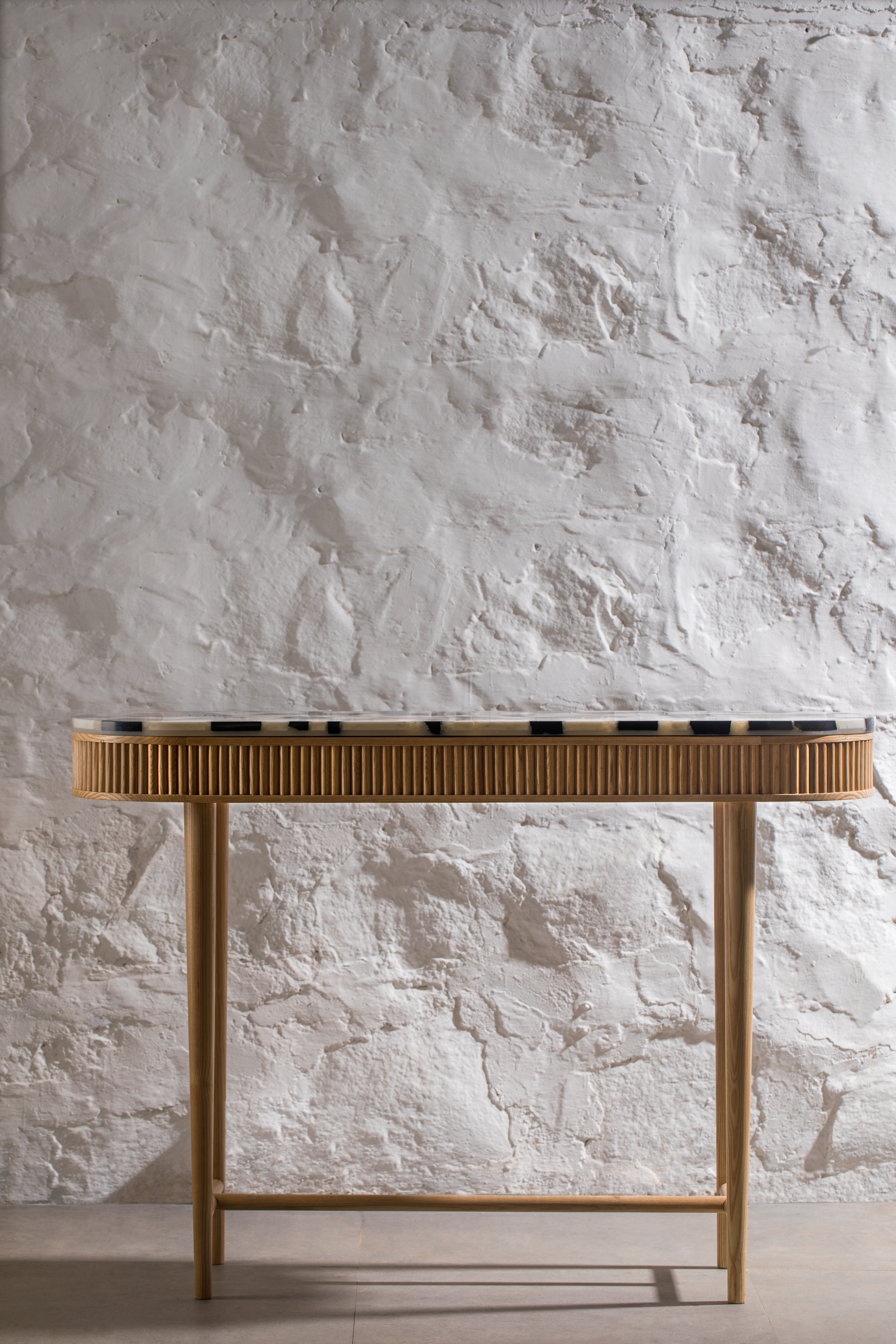 Mausam Console | Marble Off-cuts Top by Kam Ce Kam on curated-crowd.com