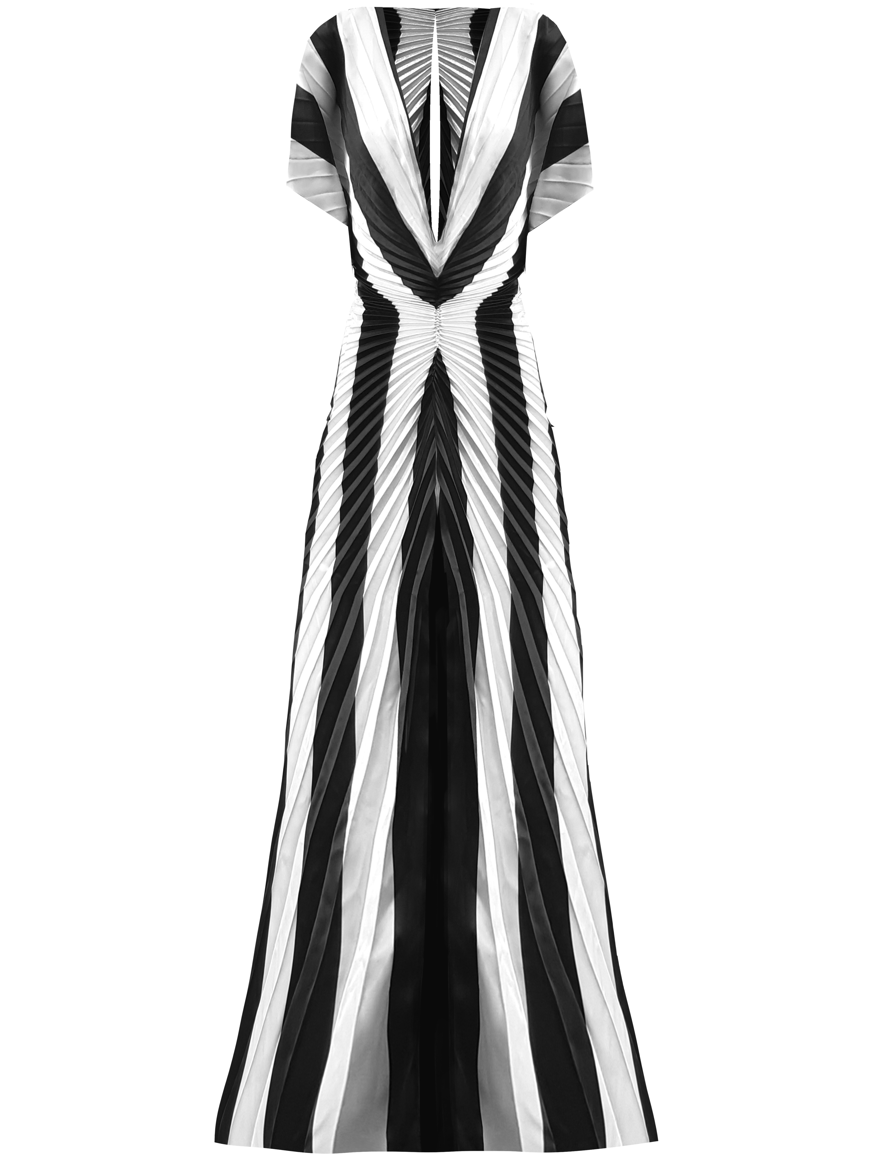 Illusion Kaftan - Black/White by Georgia Hardinge on curated-crowd.com