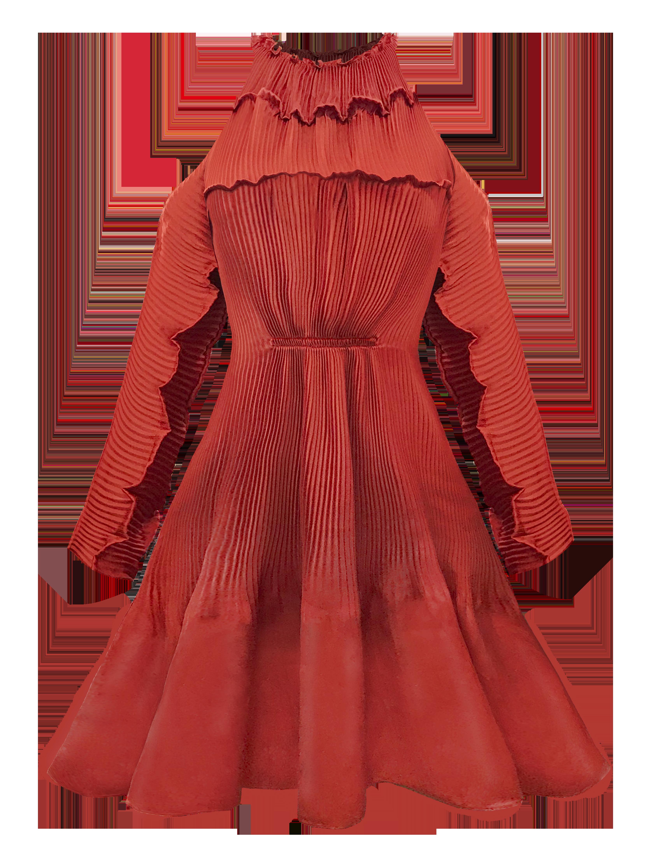 Quartz Mini Dress - Orange by Georgia Hardinge on curated-crowd.com