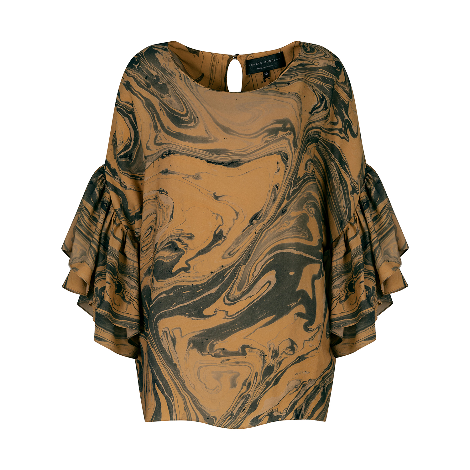Marbled Ruffle Top by Edward Mongzar on curated-crowd.com